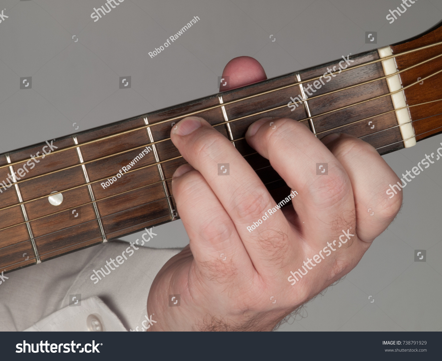 Primary Guitar Chord C 7 Major Stock Photo Royalty Free 738791929