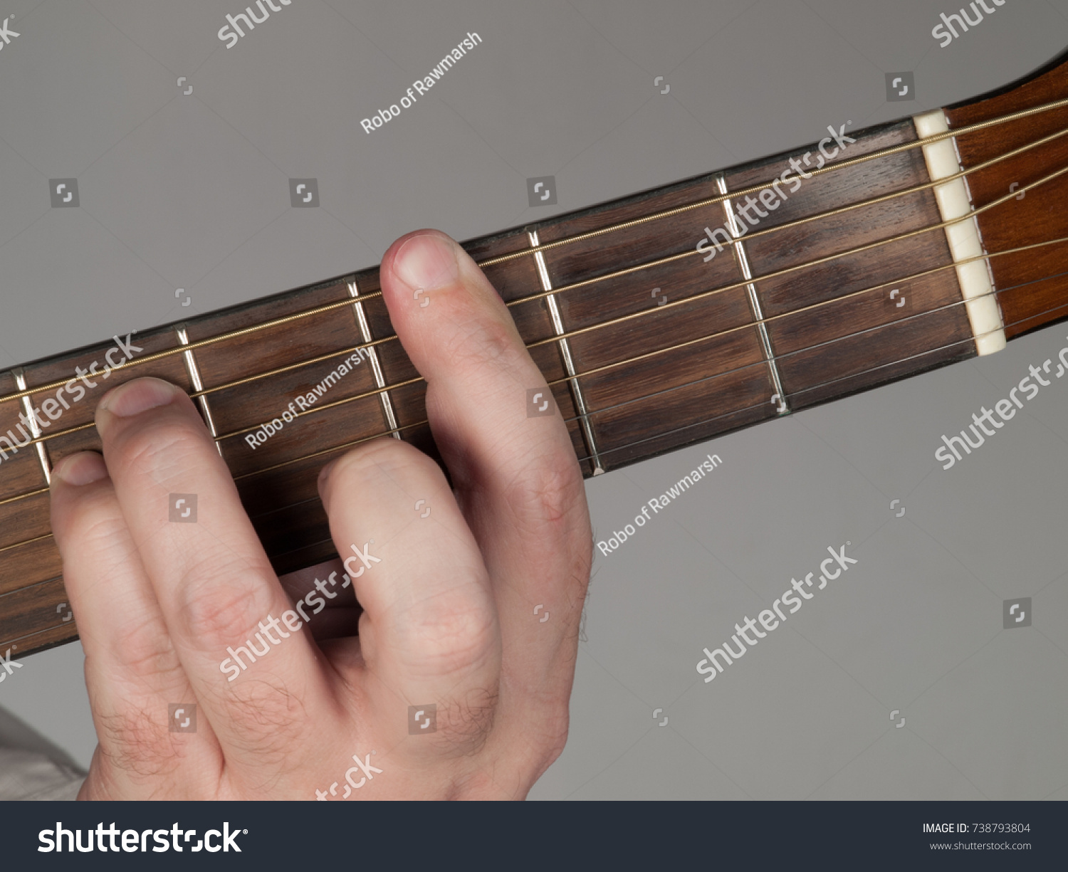 Primary Guitar Chord G Minor Stock Photo Edit Now 738793804