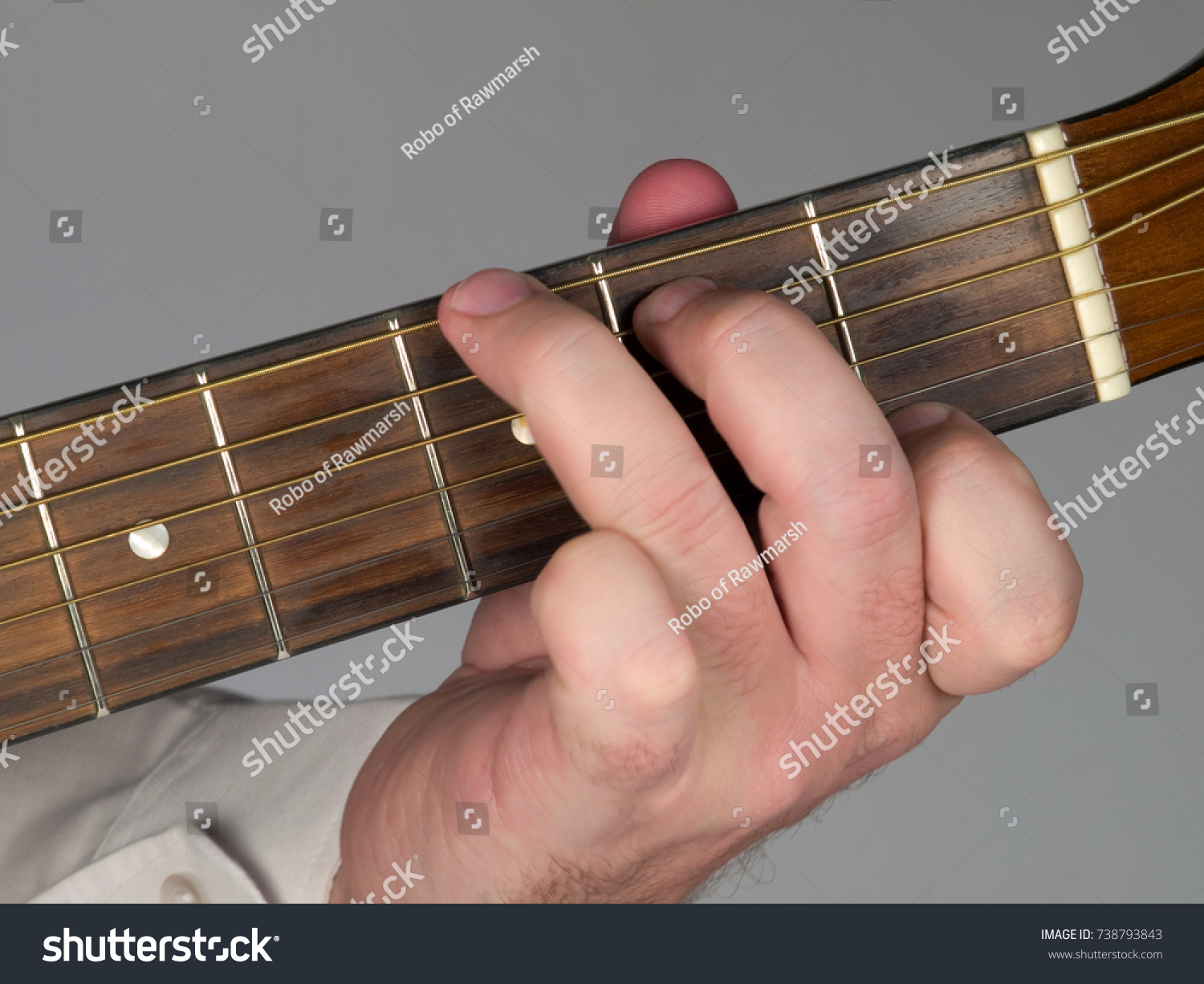 Primary Guitar Chord G 7 Major Stock Photo Image Royalty Free