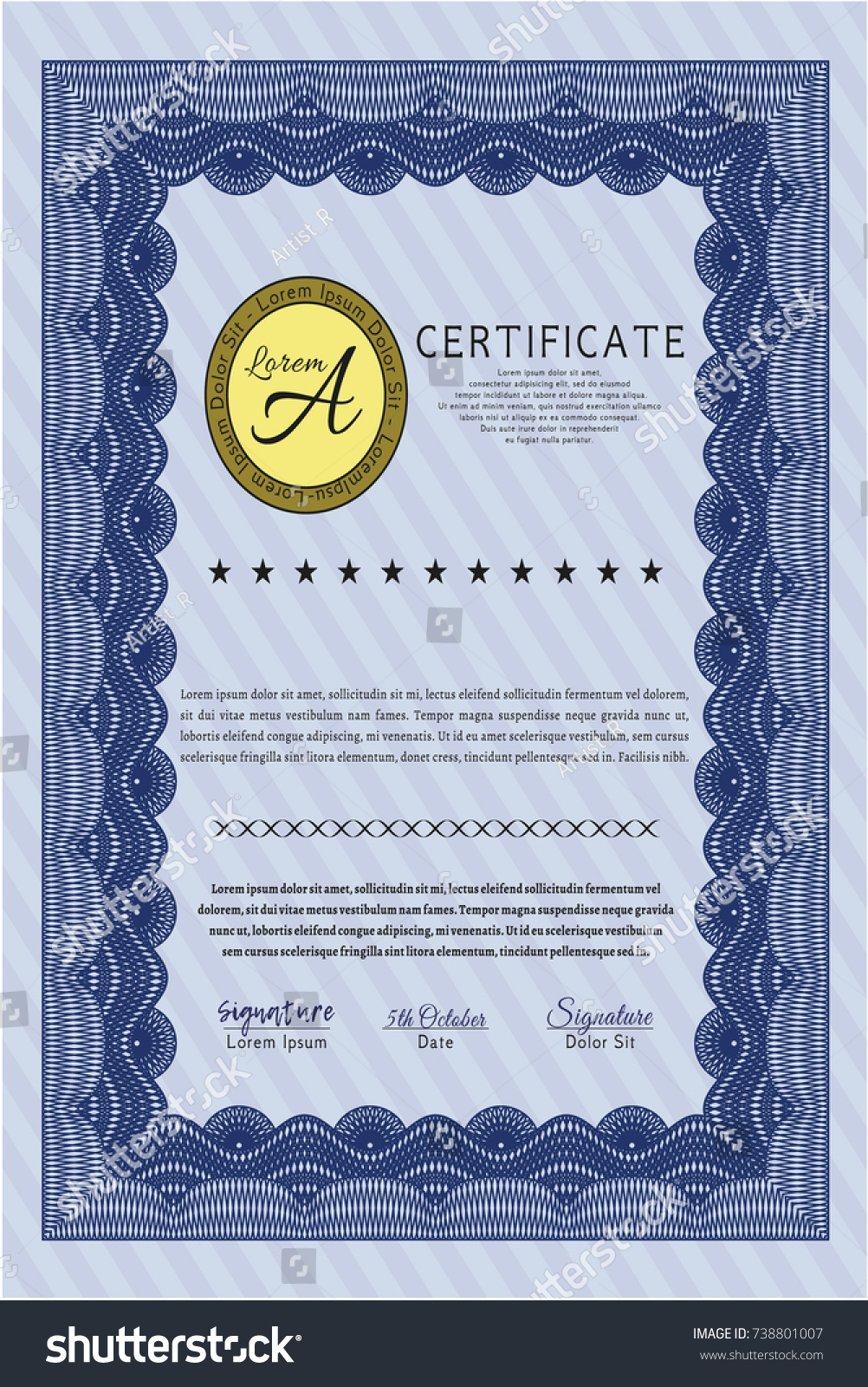 Vector stock certificate template choice image certificate vector stock certificate template gallery certificate design and nice stock certificates basic meeting agenda template same yadclub Images