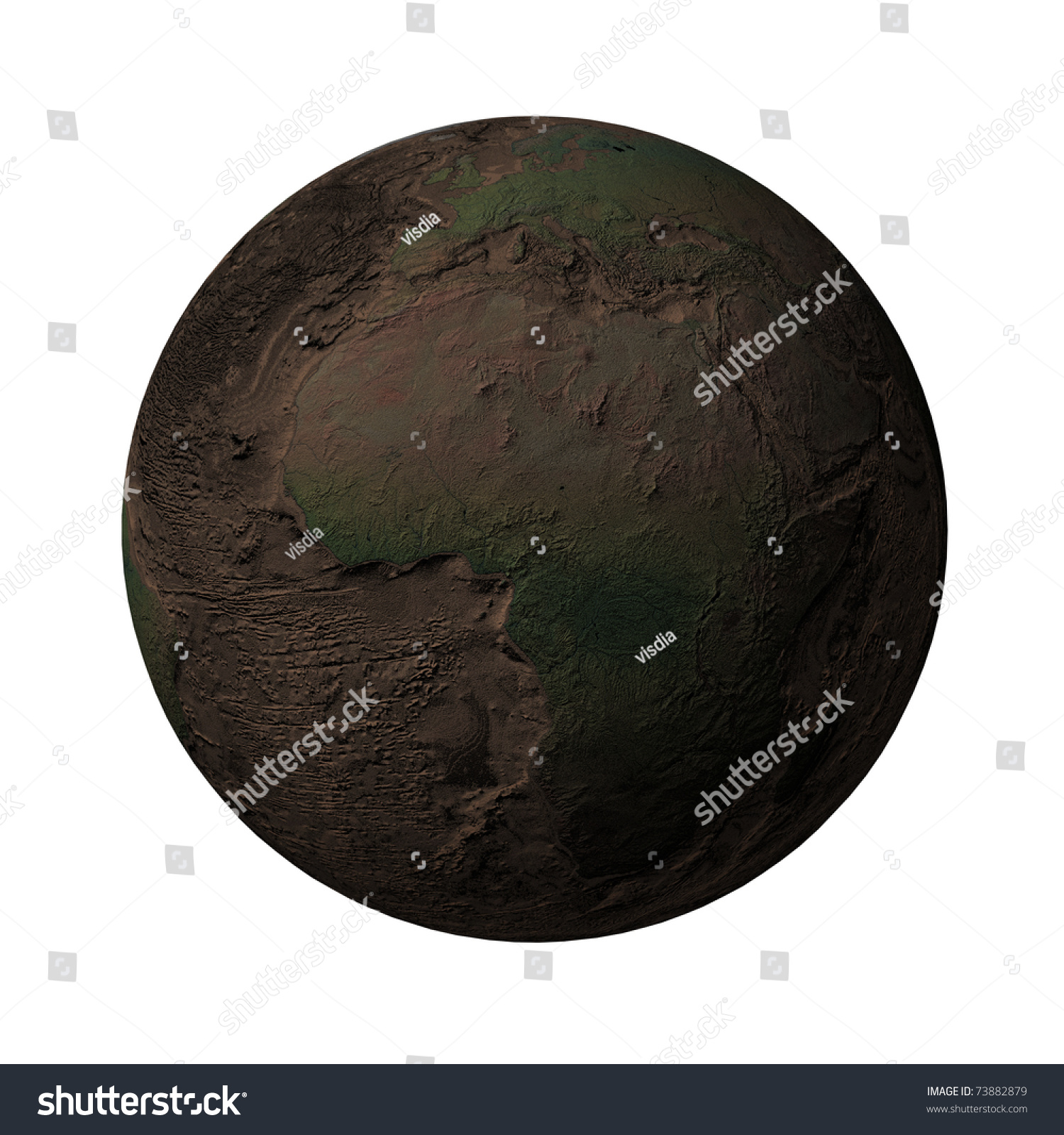 Earth without water plants africa europe stock illustration 73882879 earth without water and plants africa europe ccuart Choice Image