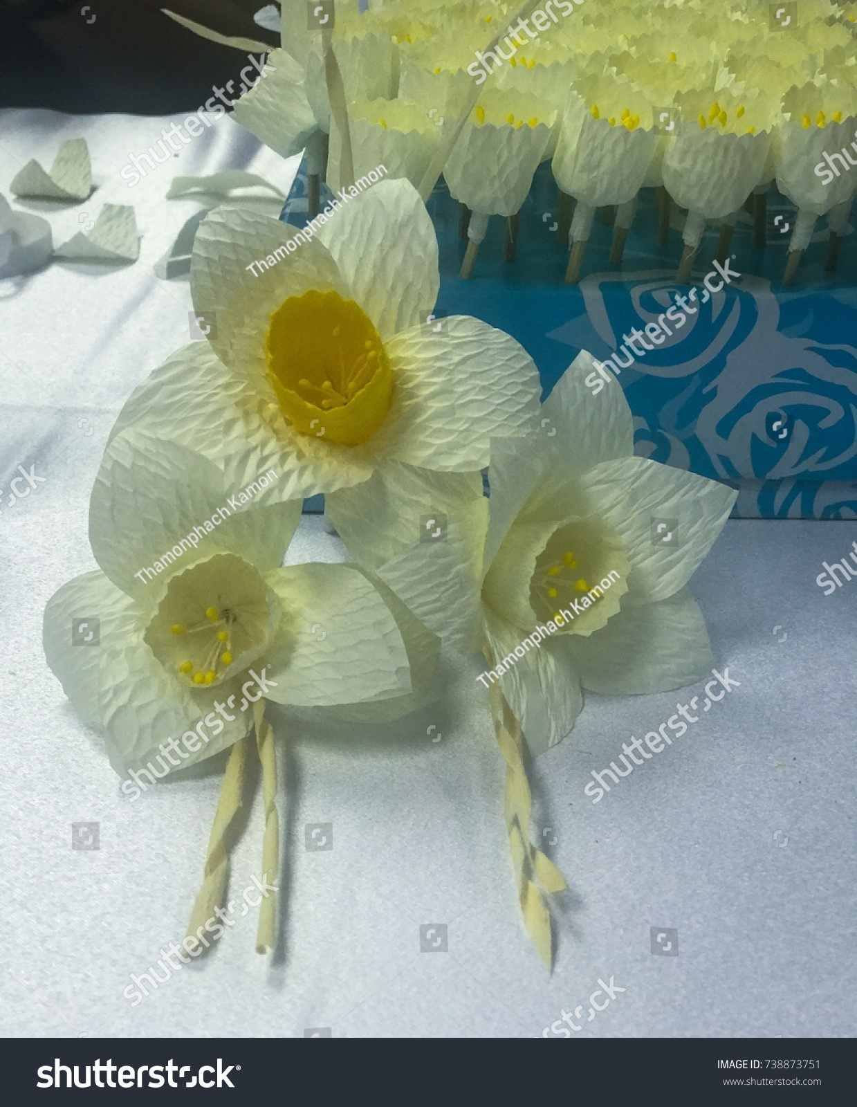 Thai Artificial Funeral Flower Sandalwood Flower Stock Photo Edit
