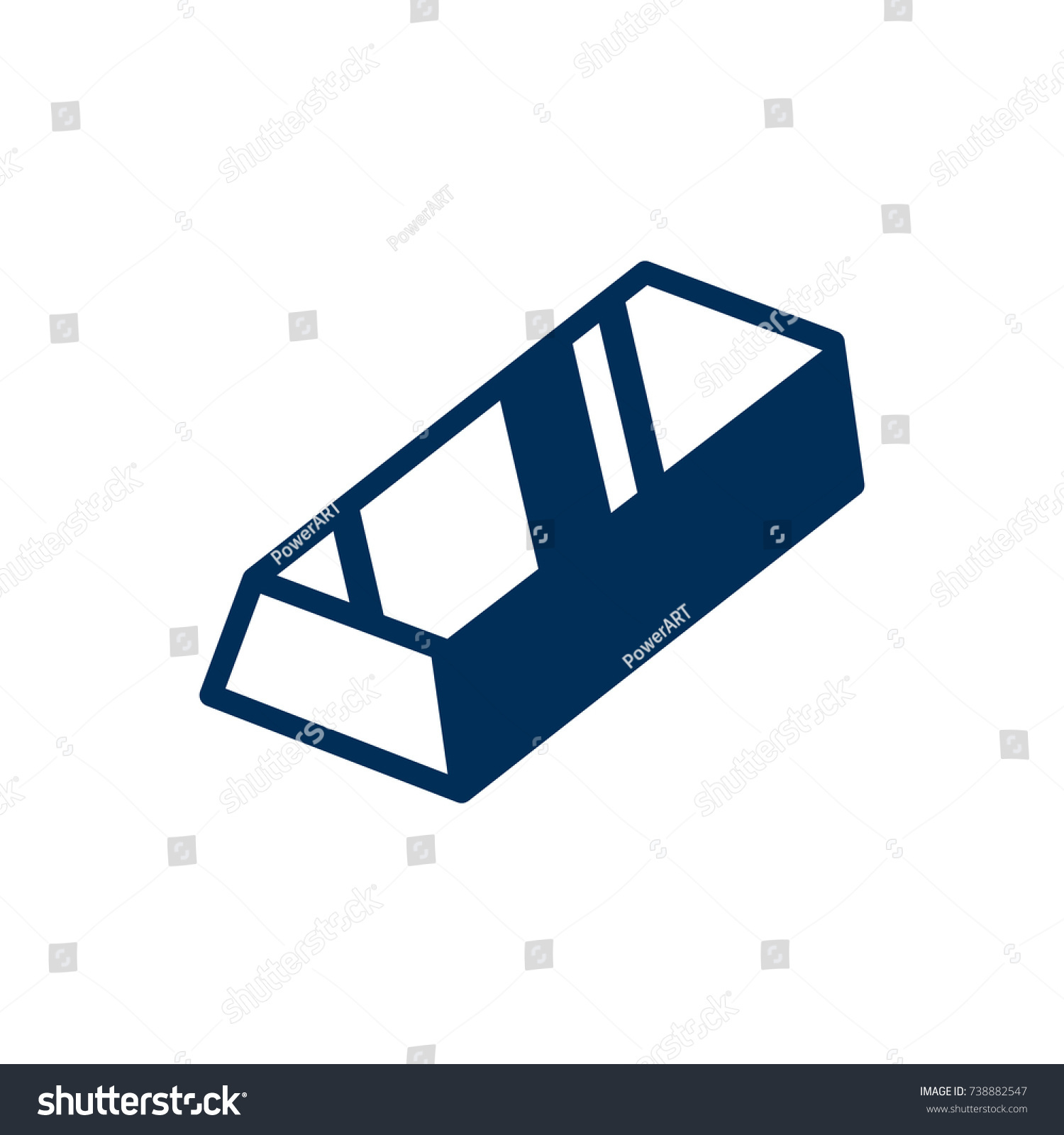 Isolated gold bar icon symbol on stock vector 738882547 shutterstock isolated gold bar icon symbol on clean background vector bullion element in trendy style buycottarizona Image collections
