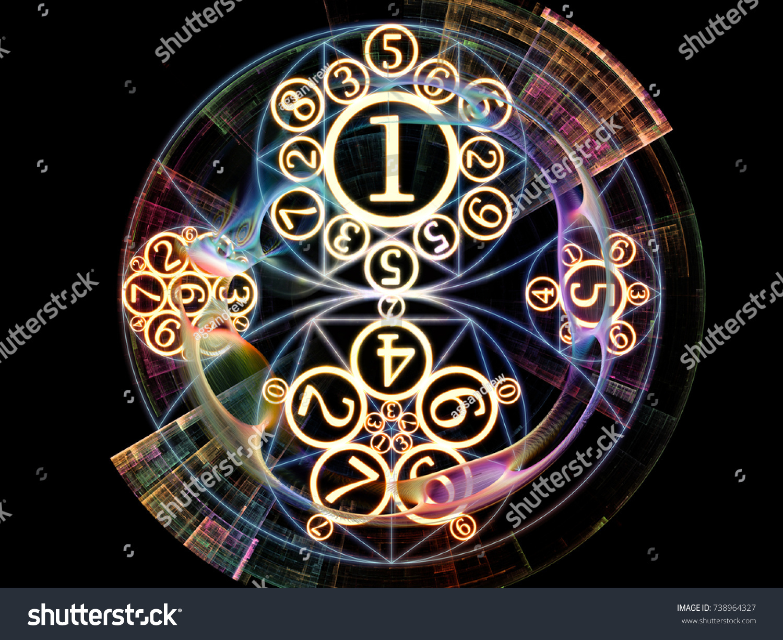 Numeric Connection Series Creative Arrangement Number Stock