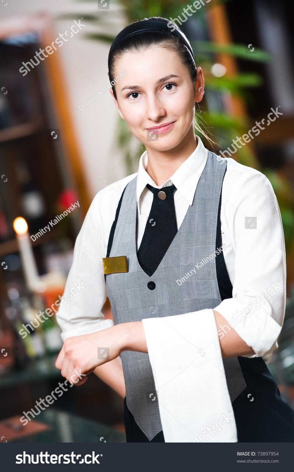 Photo Of The Girl Waitress