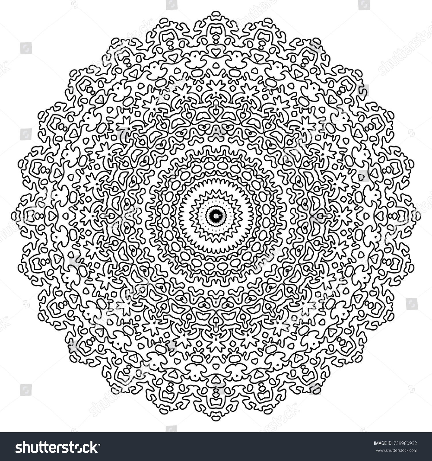 adult coloring book page mandala flourish ornament for - Art Therapy Coloring Pages Mandala