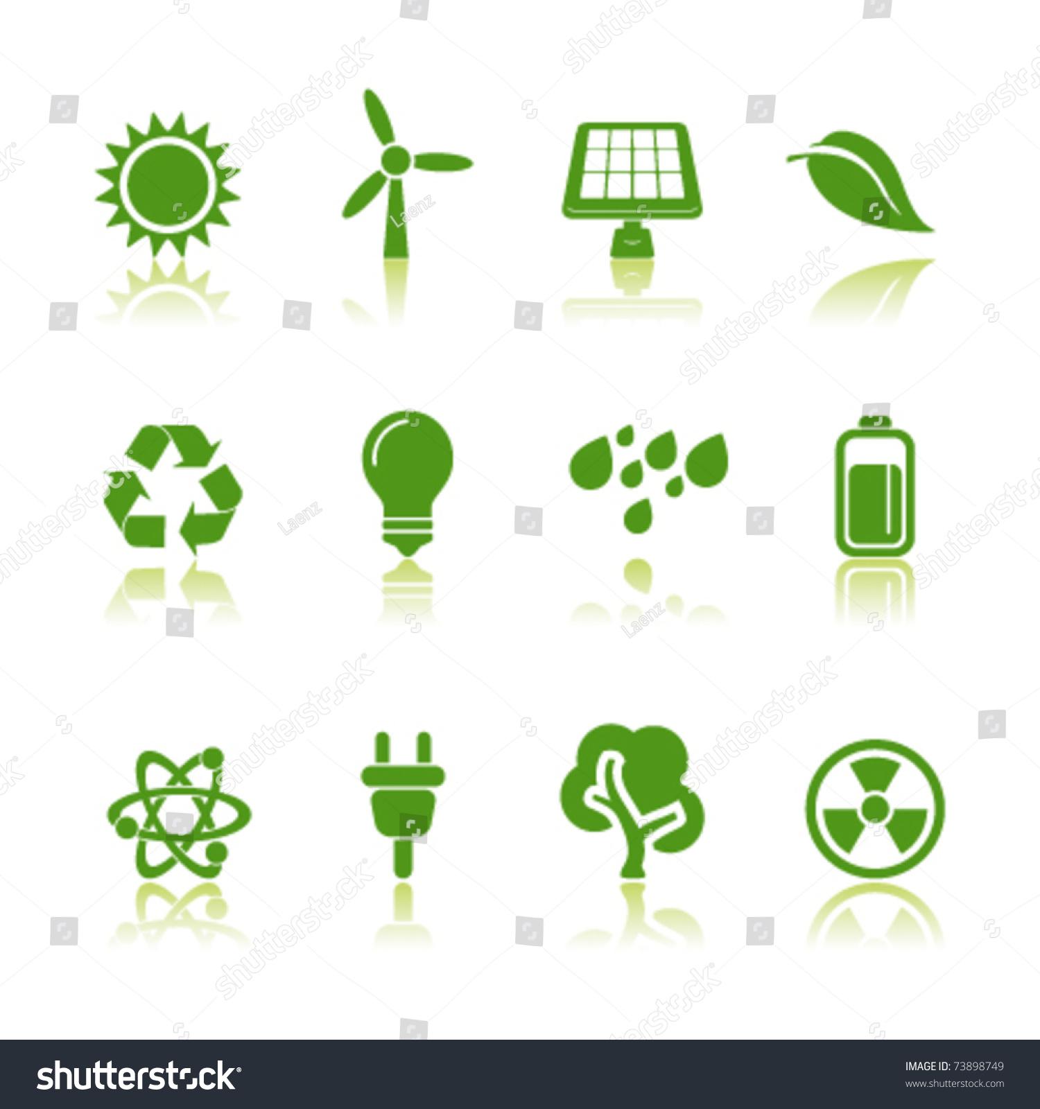 Eco energy stock vector 73898749 shutterstock - Auchan eco energie ...