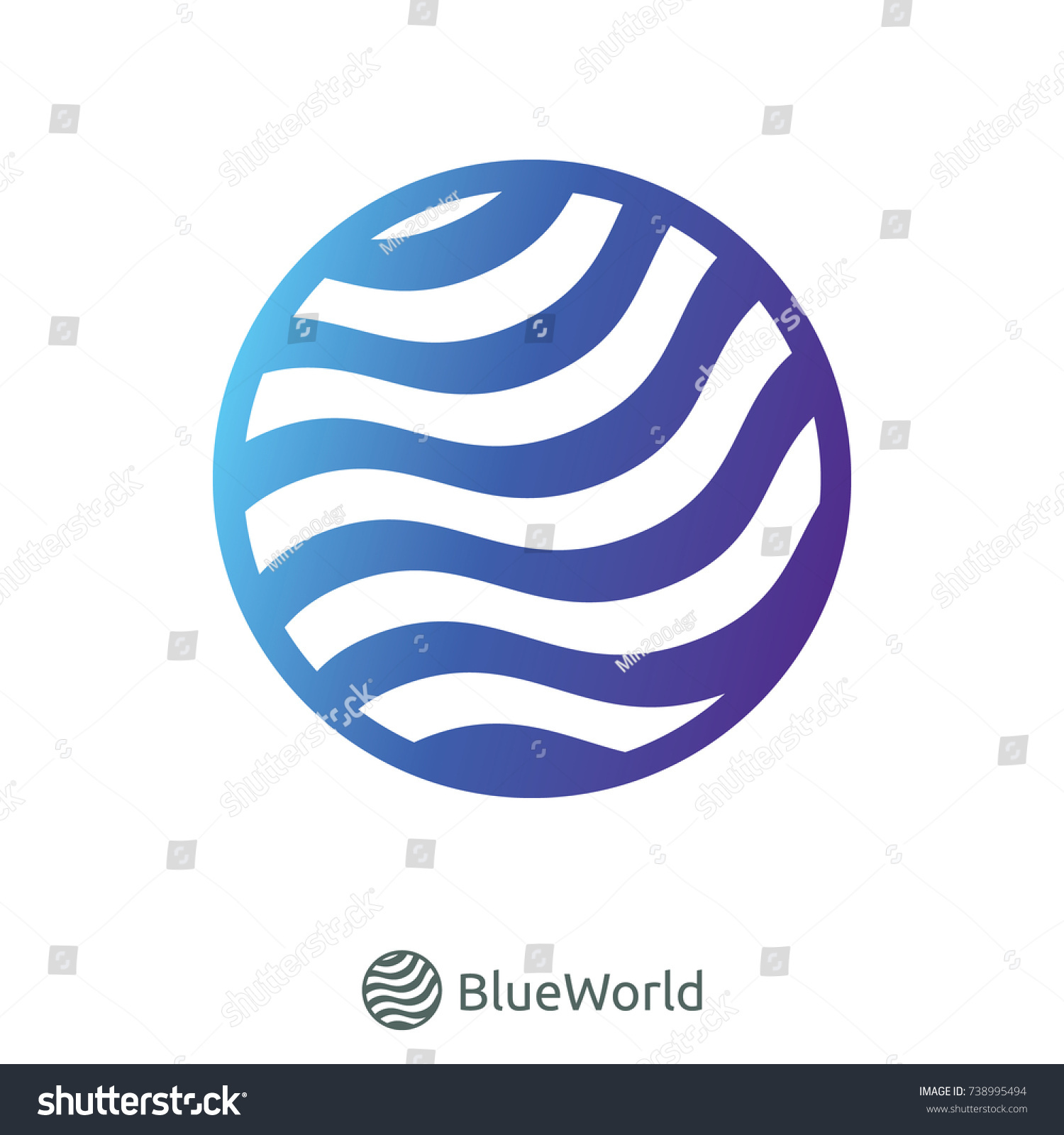 Water wave river ocean logo symbol stock vector 738995494 water wave river ocean logo symbol for internet data concept or nature services biocorpaavc Gallery