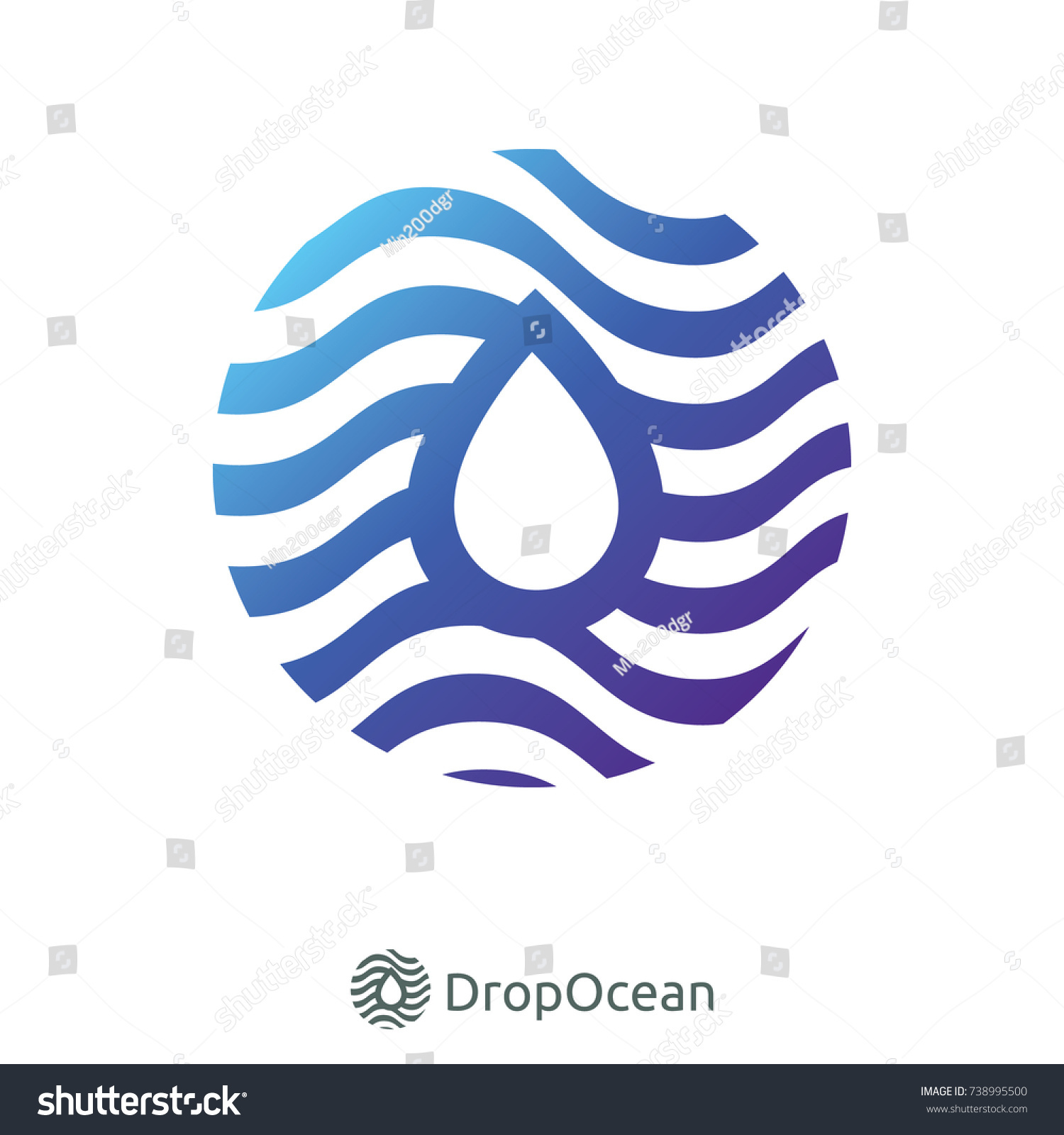 Droplet water wave river ocean logo stock vector 738995500 droplet water wave river ocean logo symbol for internet data concept or nature services biocorpaavc Choice Image