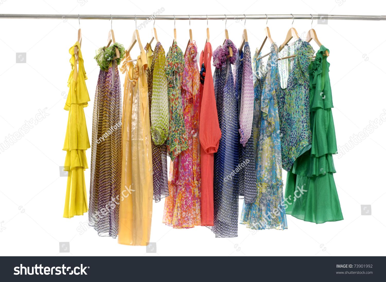 Fashion clothing rack display stock photo 73901992 - Designer clothes rack ...