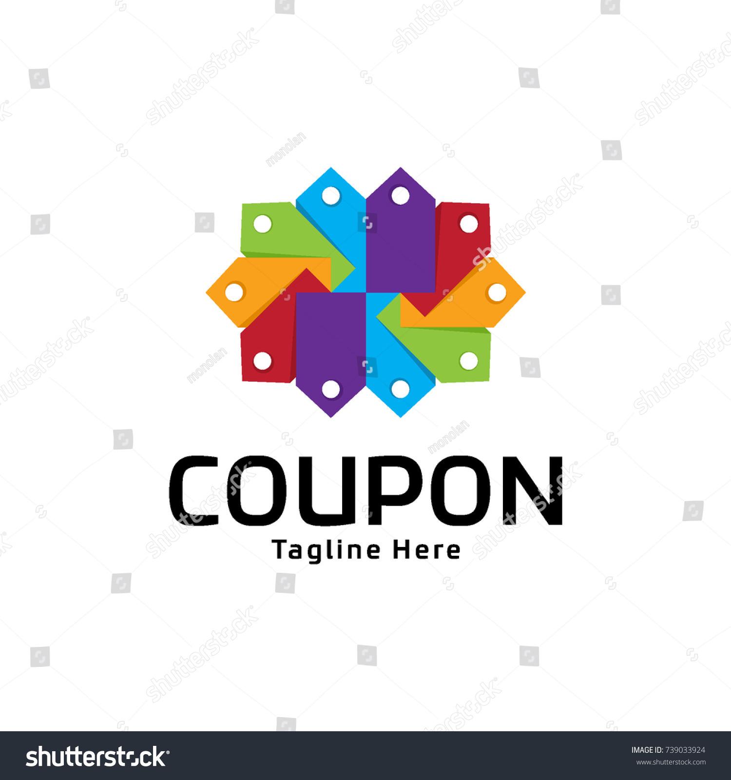 Abstract Coupon Logo Design Stock Vector Royalty Free 739033924