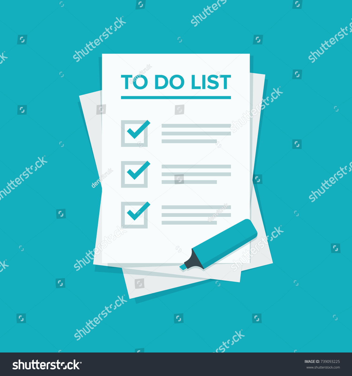 All The Tasks do list planning icon concept all stock vector (royalty free