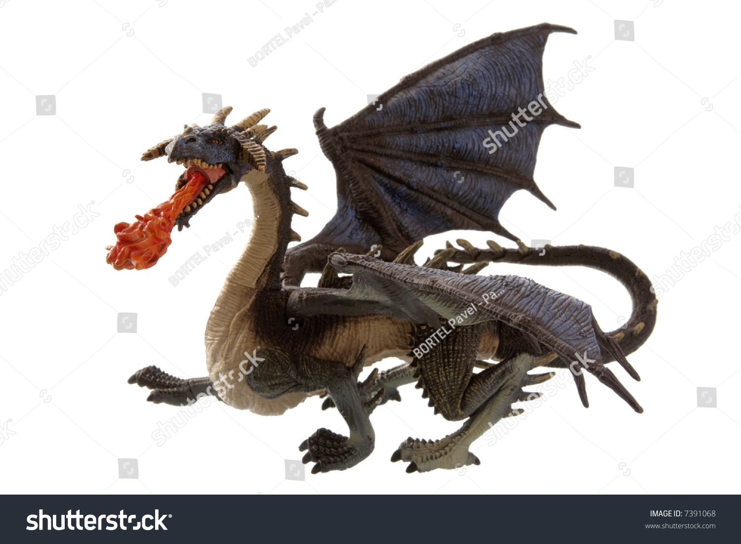 fly fire dragon isolated on white stock photo royalty free 7391068