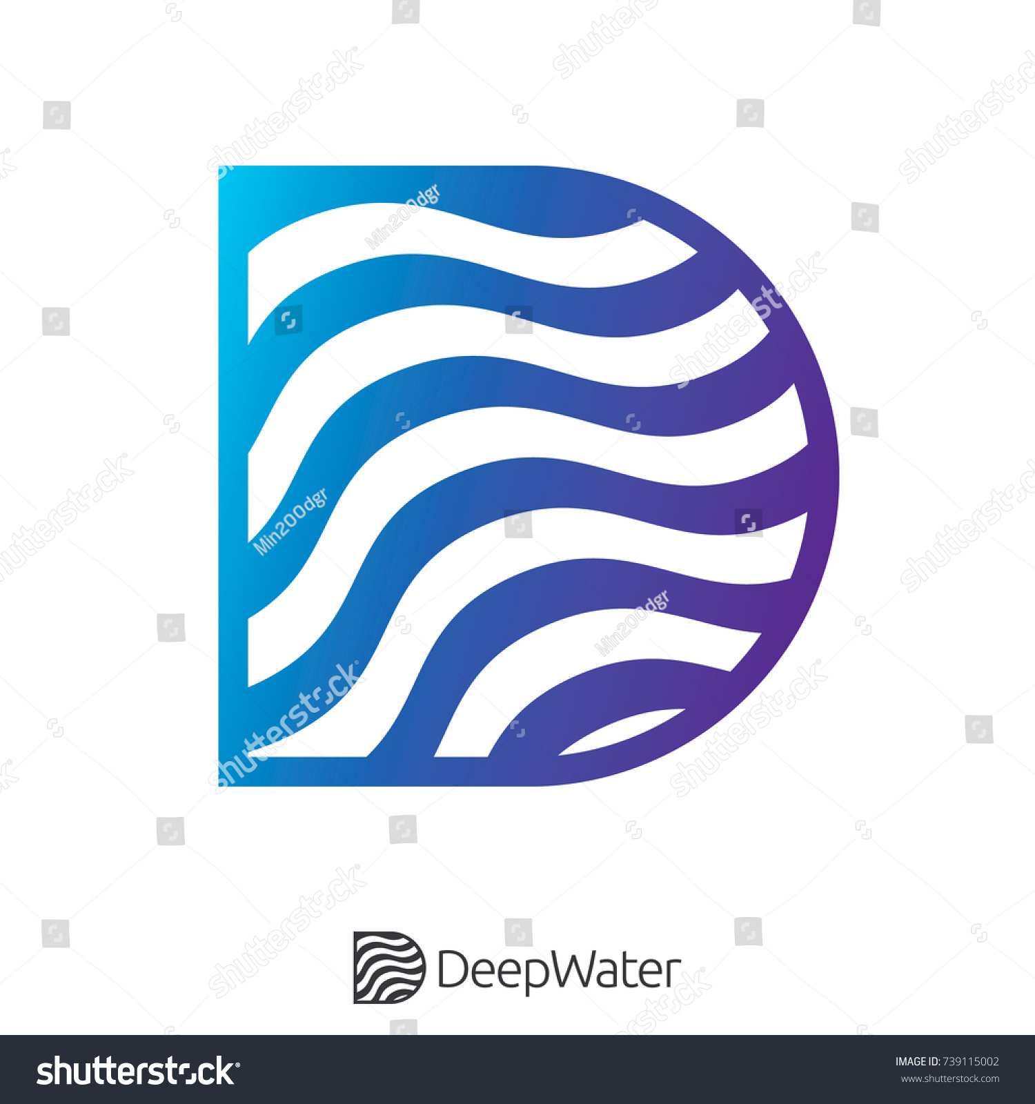 Letter d water wave river ocean stock vector 739115002 shutterstock letter d water wave river ocean logo symbol for internet data concept or nature services biocorpaavc Gallery