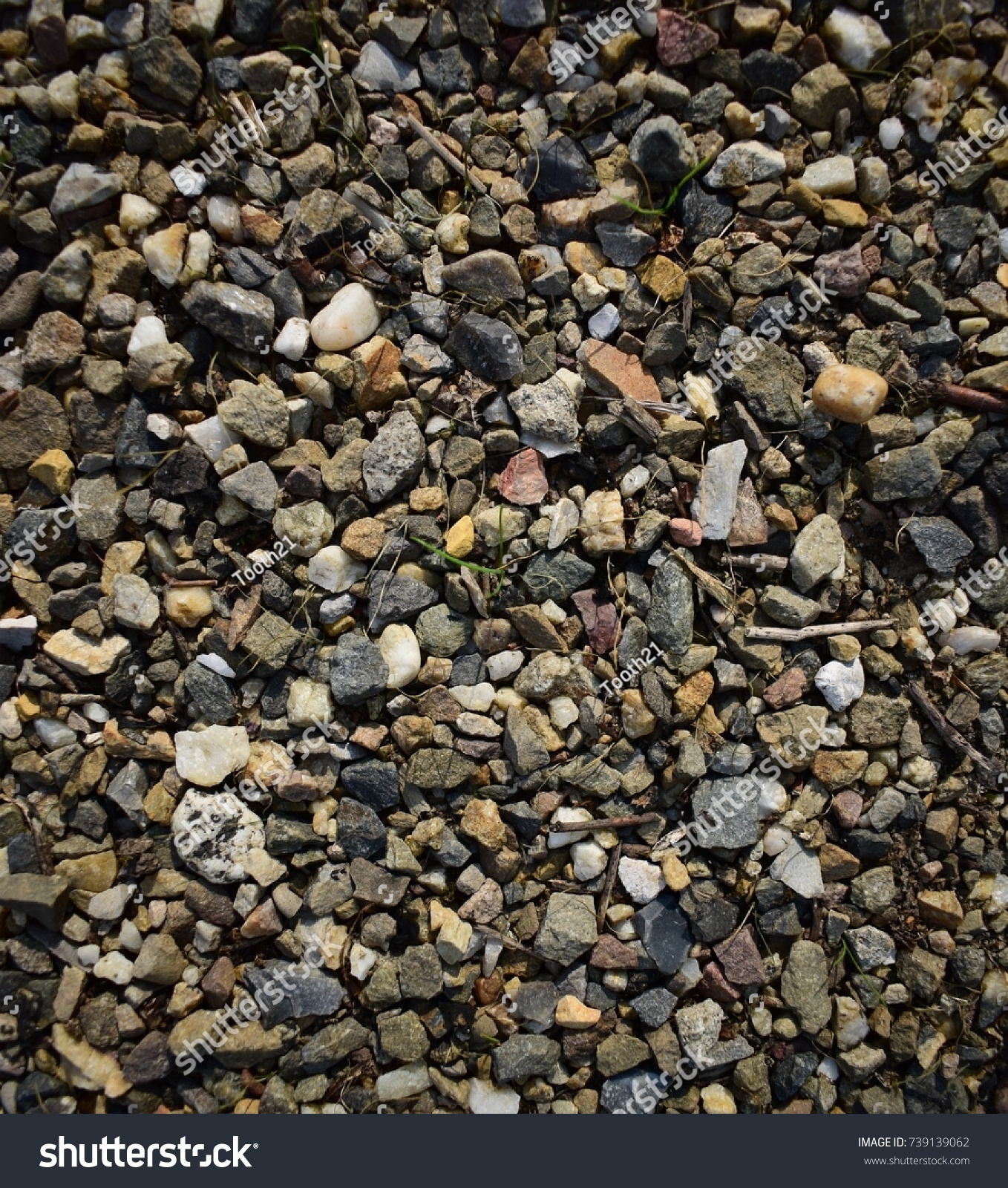 Gravel comprising of many different types of rock