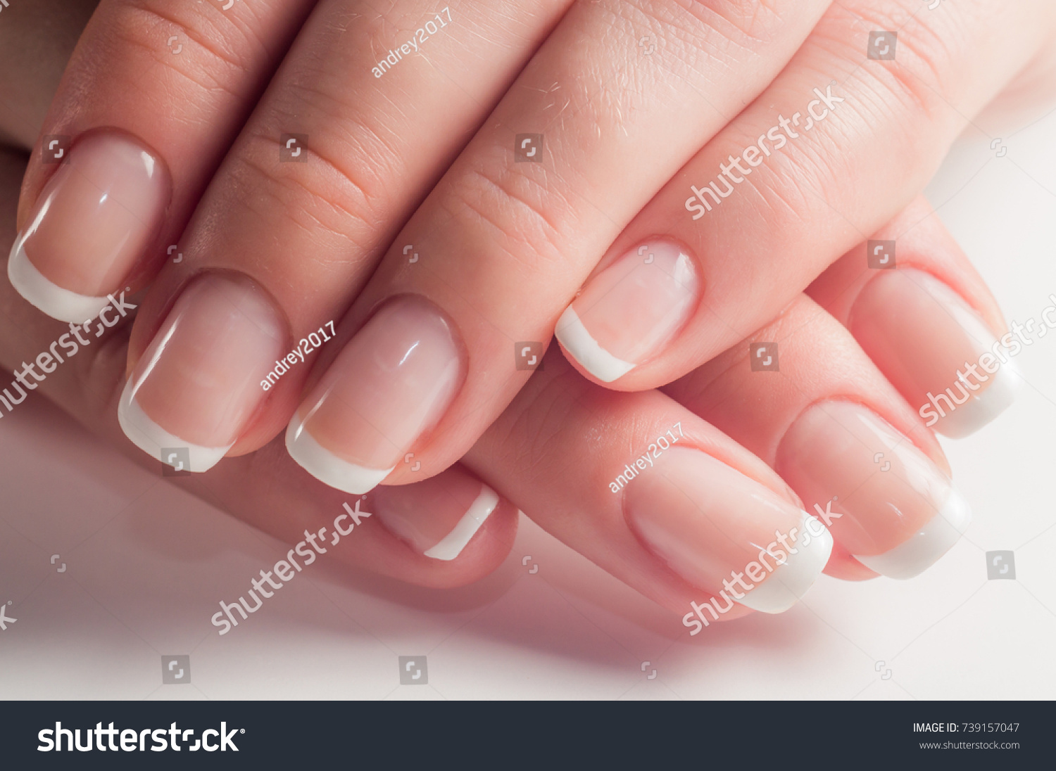 Manicure French Manicure Nail Polish Paint Stock Photo (Download Now ...