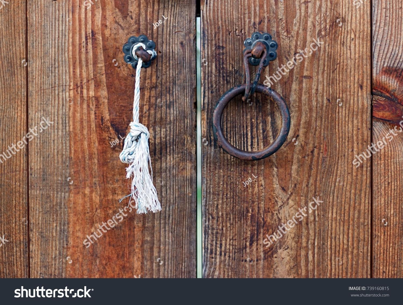 Ornate Door Knocker In Traditional Village In Gyeongju, South Korea