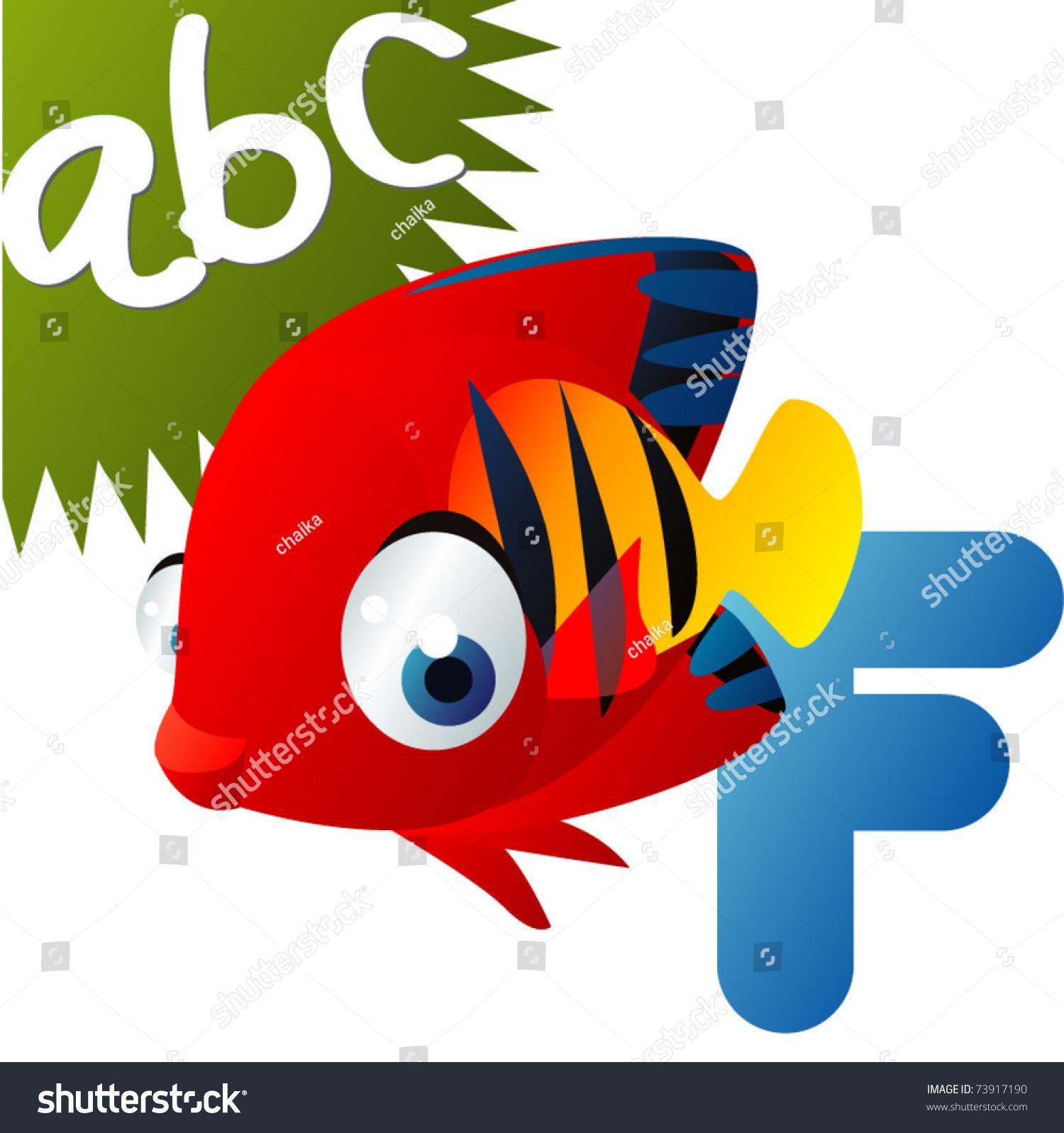 animal alphabet f fish stock vector 73917190 shutterstock