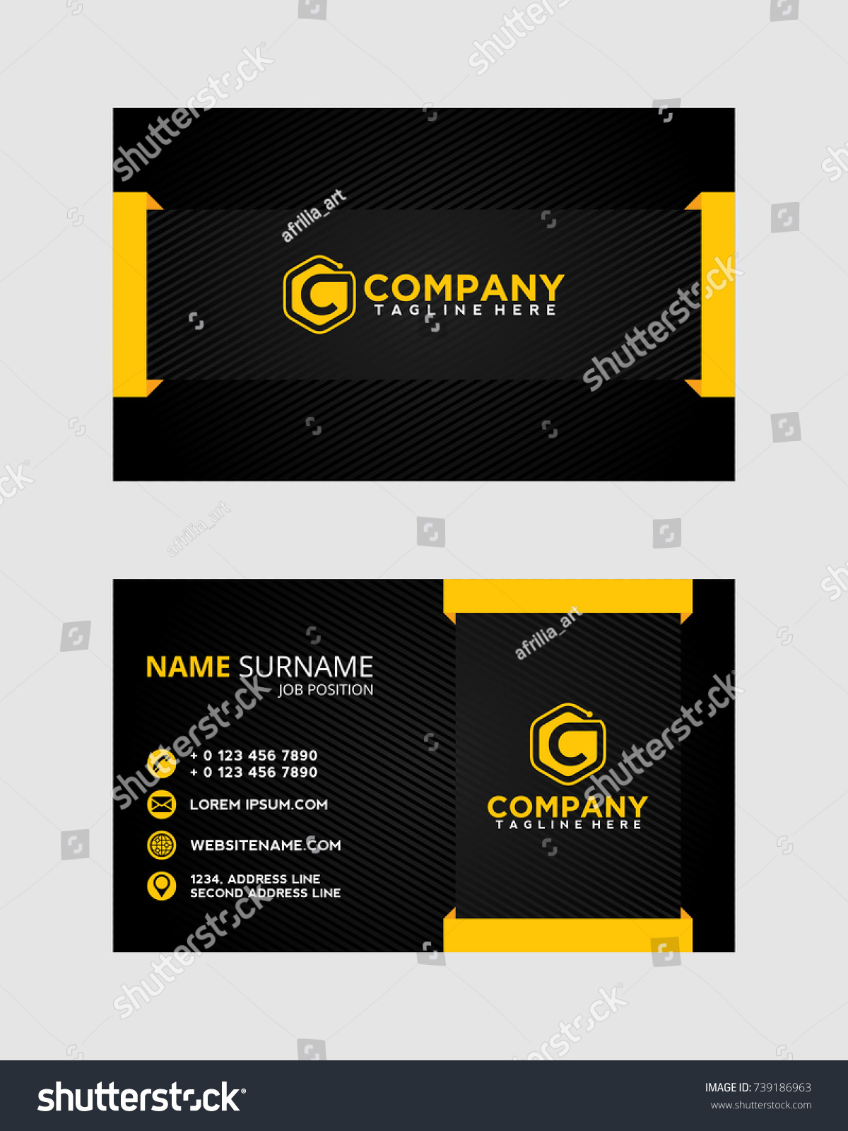 Hvac business card template design how to draw a map 1995 honda clean simple modern business card stock vector 739186963 stock vector clean and simple modern business card magicingreecefo Image collections