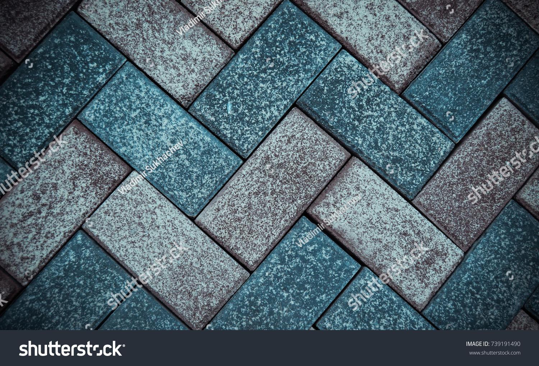 Sidewalk Street Tiles Closeup Stone Texture Stock Photo (Royalty ...