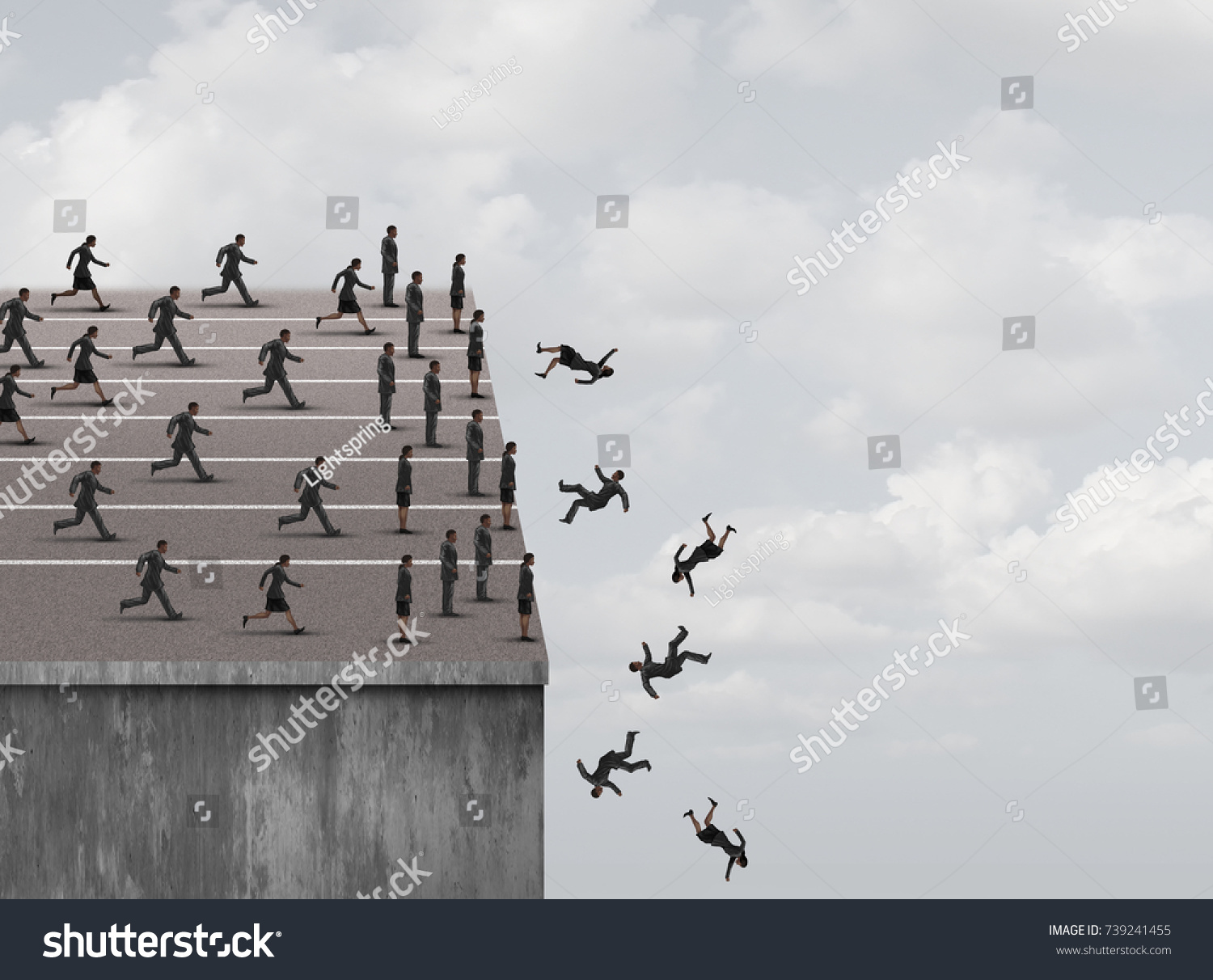 Fear Failure Limited Opportunity Business Career Stock Illustration ...