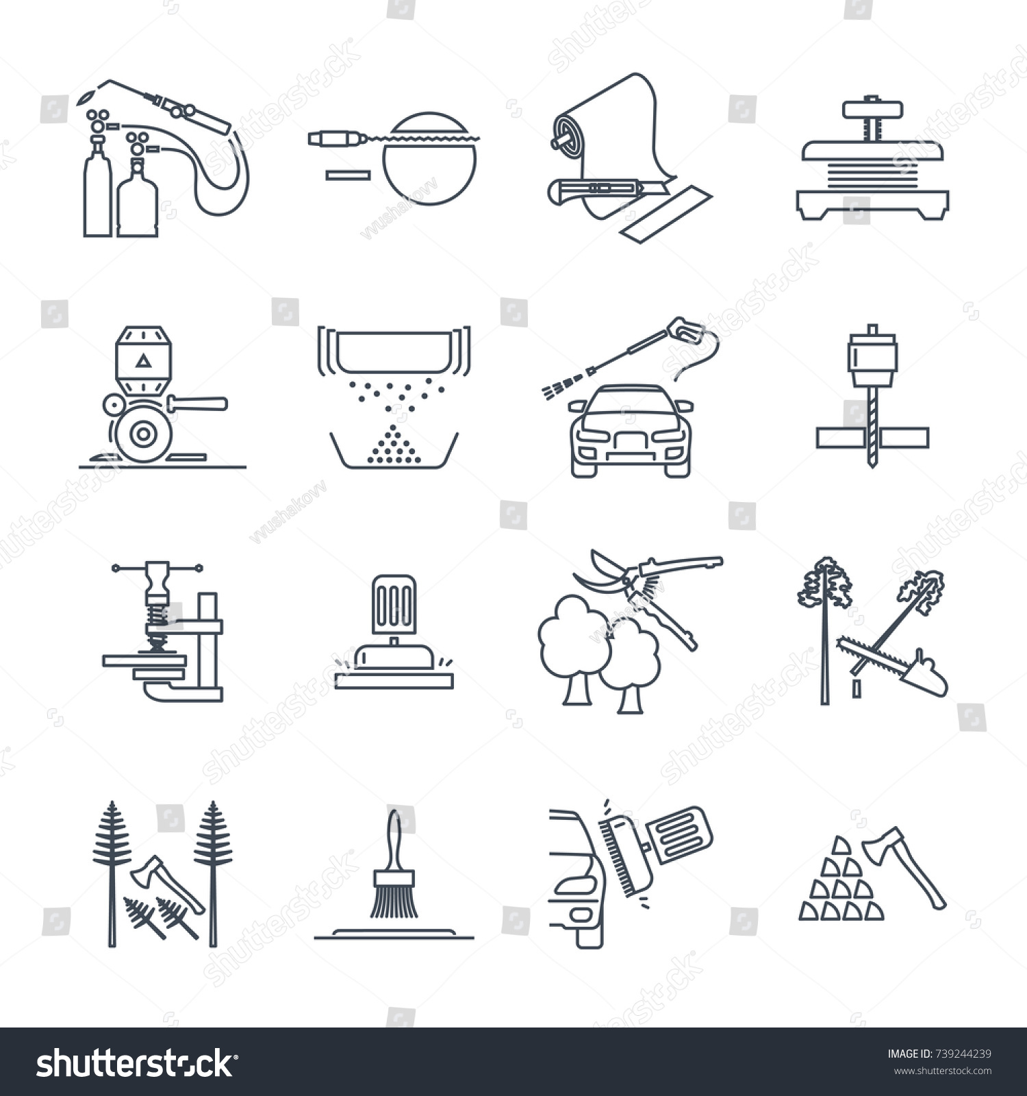 Set thin line icons electrical hand stock vector 739244239 set of thin line icons electrical hand tools equipment repair ccuart Image collections