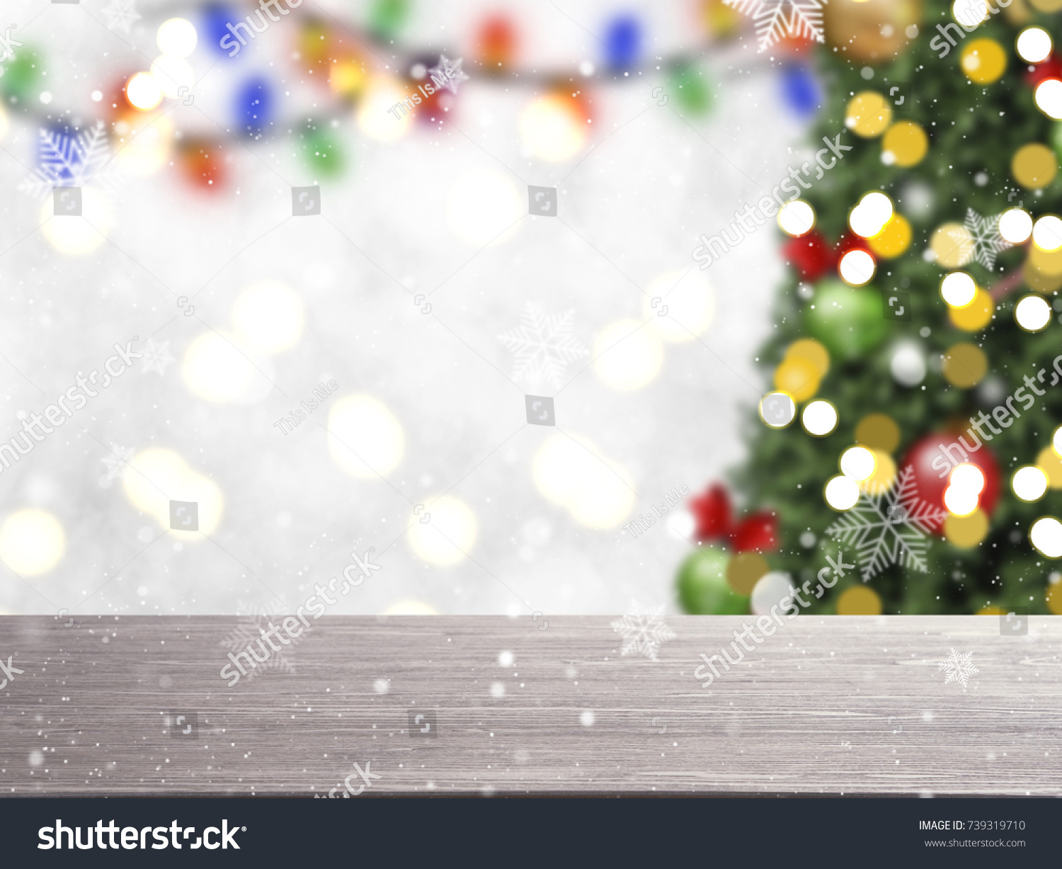 Blurry Christmas Tree Decorations Snowflake On Stock Photo (Edit Now ...