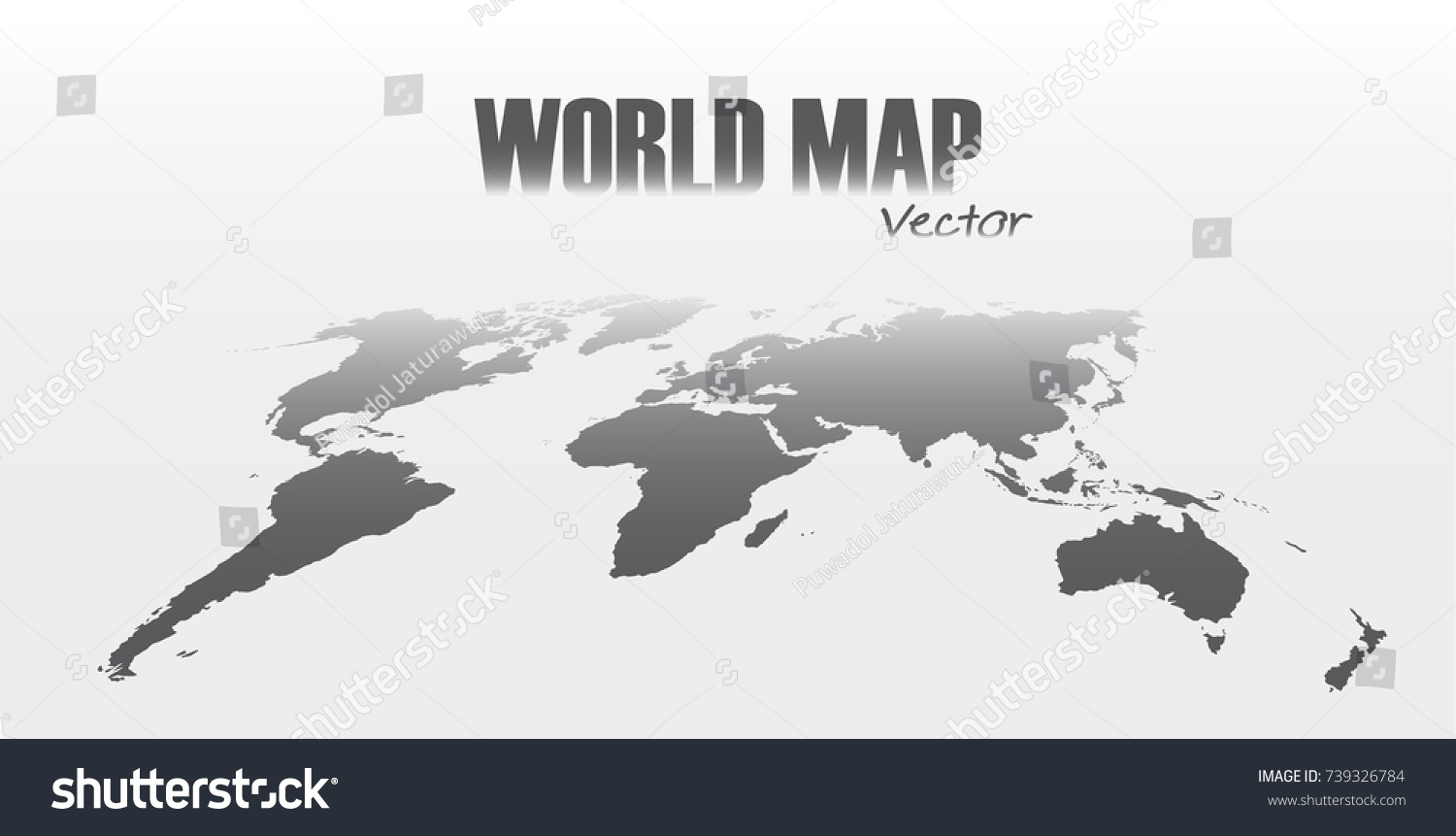 Perspective world map on gray background stock vector 739326784 perspective world map on gray background sciox Image collections