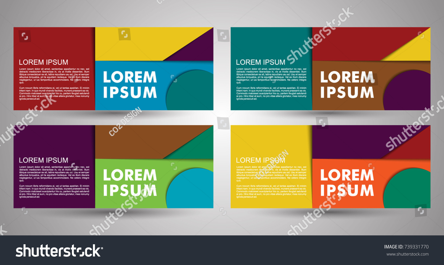 design of flyers banners brochures and cards banner vector collection