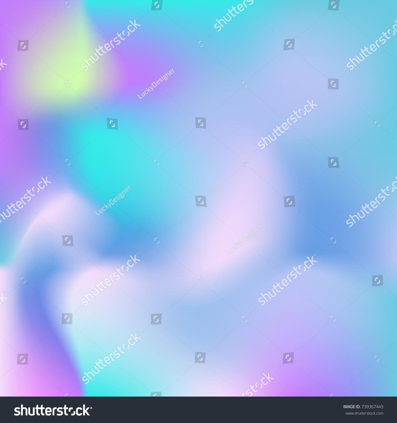 Soft Color Gradient Background Holographic Wallpaper 739367443
