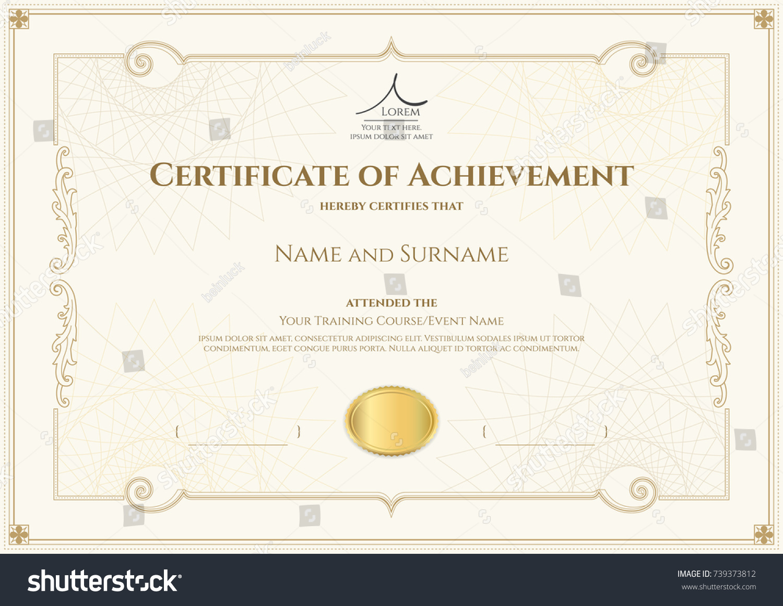 Luxury Certificate Template Elegant Border Frame Stock-Vektorgrafik ...