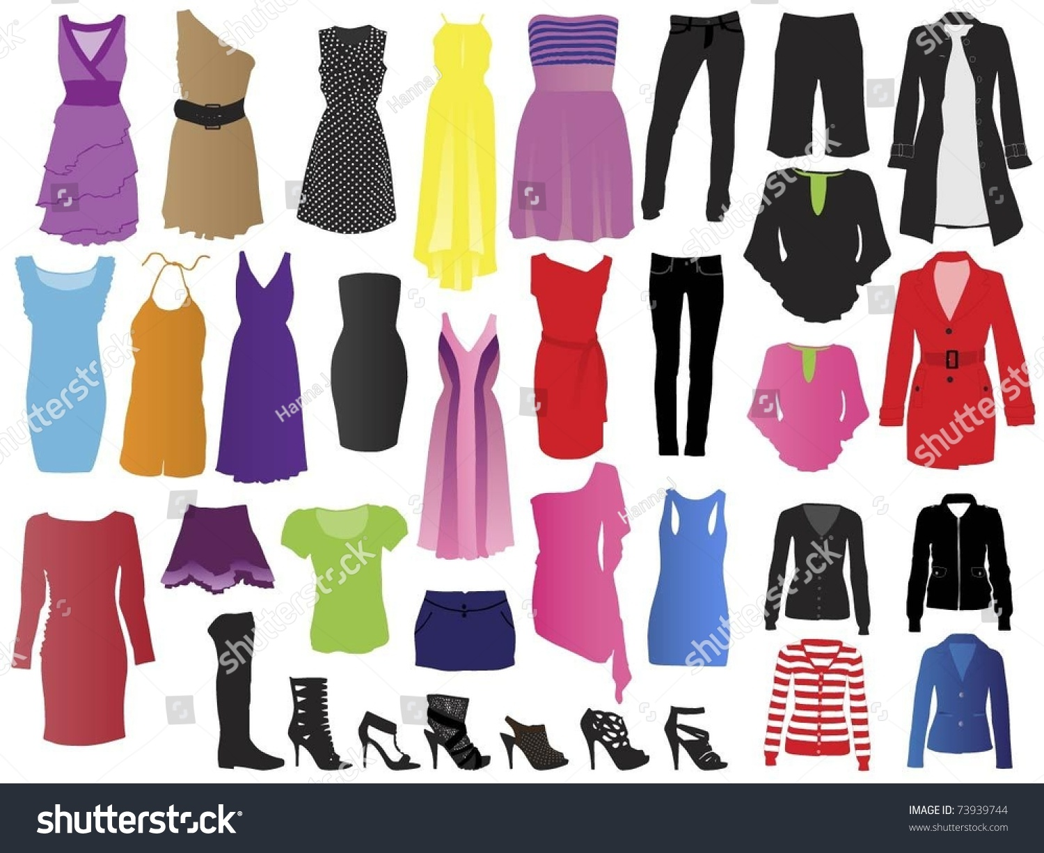 fashion clothes stock vector 73939744 shutterstock