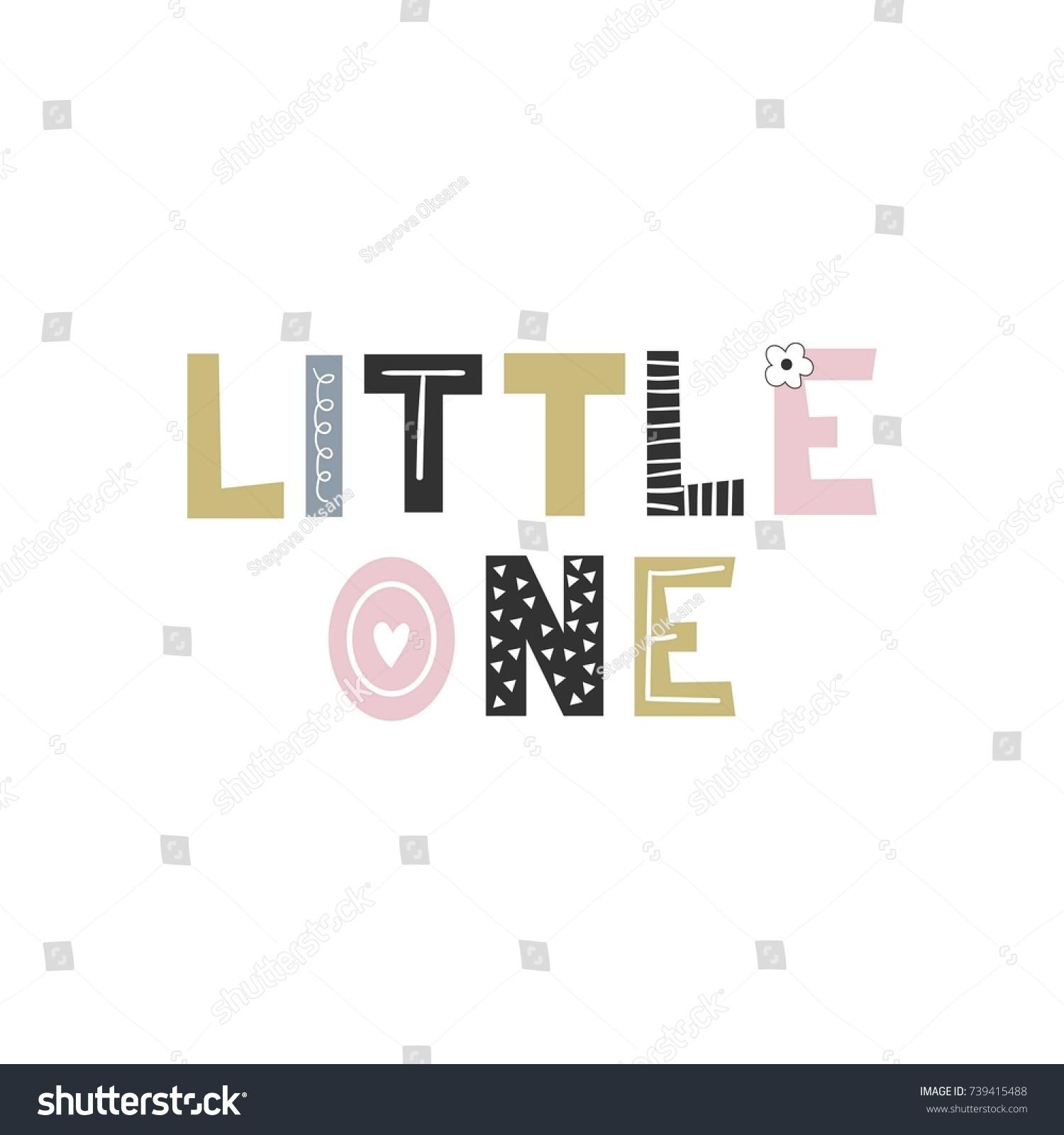 Little e Unique Hand Drawn Nursery Stock Vector