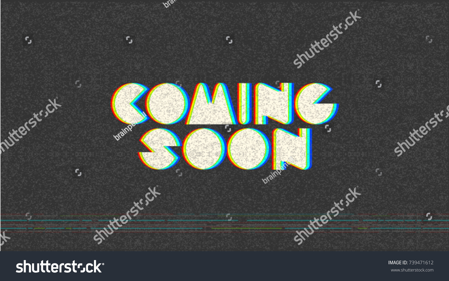 Super Coming Soon Trendy Banner Web Page Stock Vector 739471612  CG43