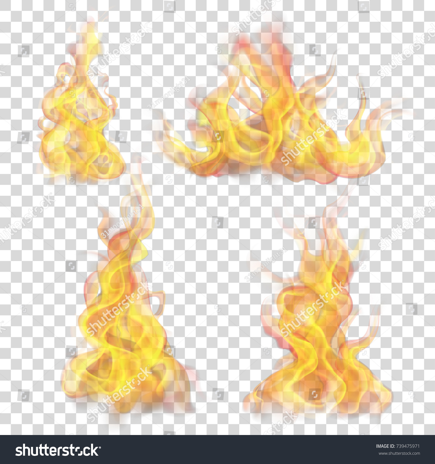 Set Fire Flame On Transparent Background Stock Vector Royalty Free 739475971 Fire is an event, not a thing. https www shutterstock com image vector set fire flame on transparent background 739475971