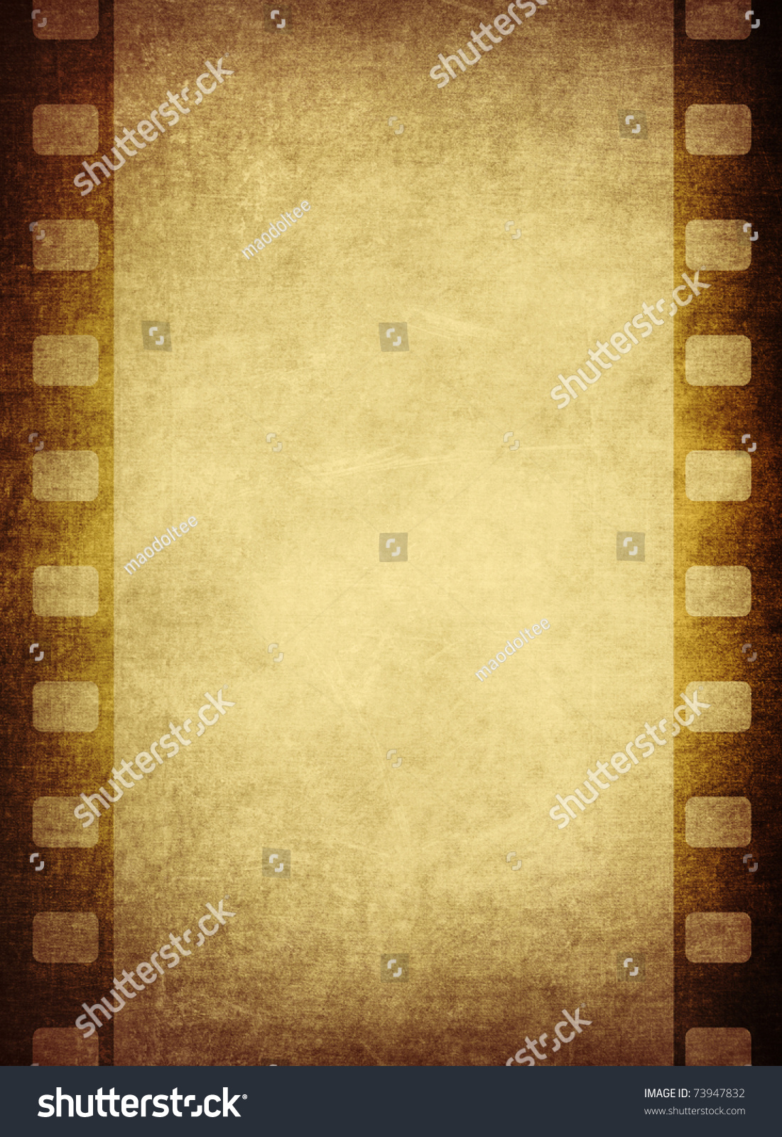 vintage film frame with space for your data