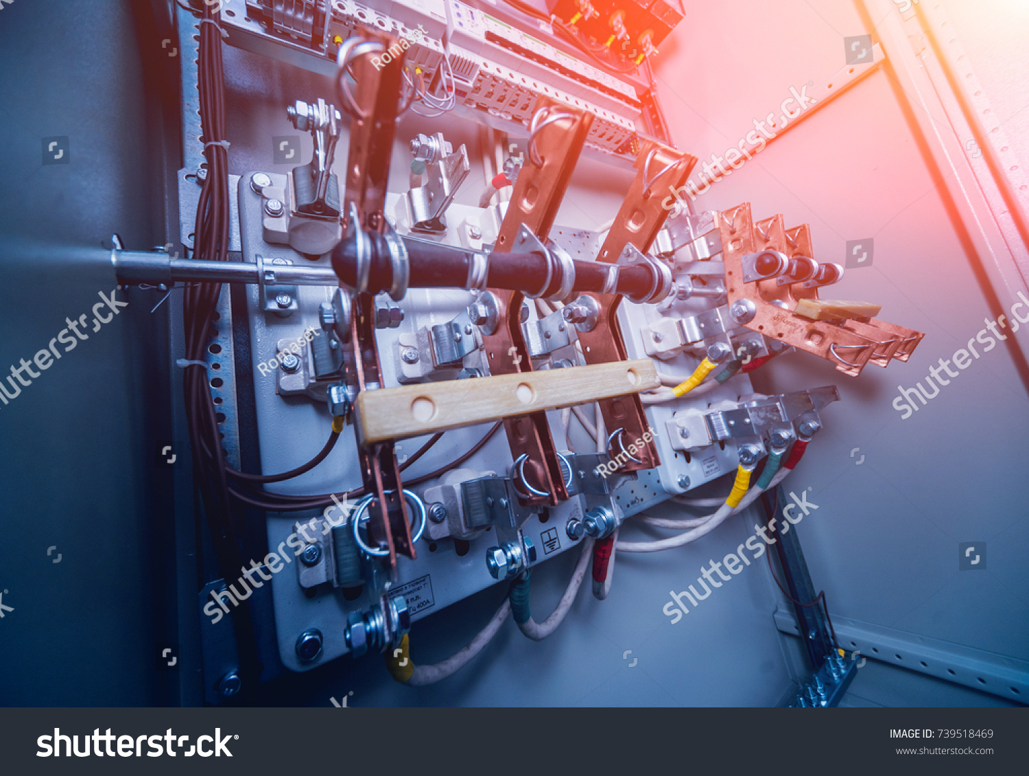Wires Switches Electric Box Electrical Panel Stock Photo Edit Now Fuse And In With Fuses Contactors Background