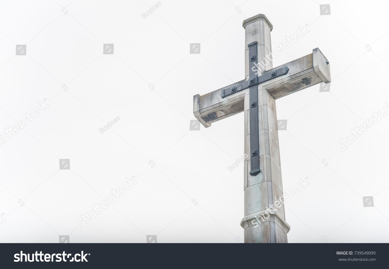 Christian Cross Christchurch Cathedral Christchurch New Stock Photo