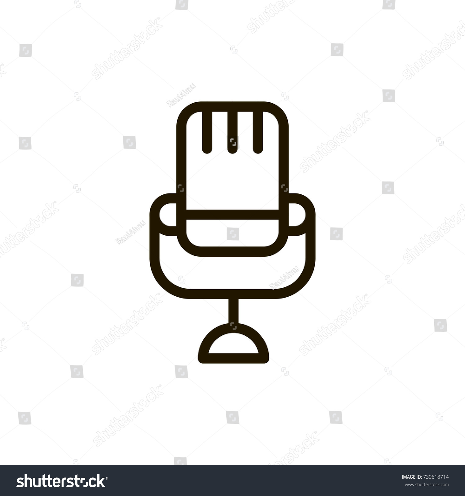 Microphone Icon Flat Icon Single High Stock Vector Royalty Free