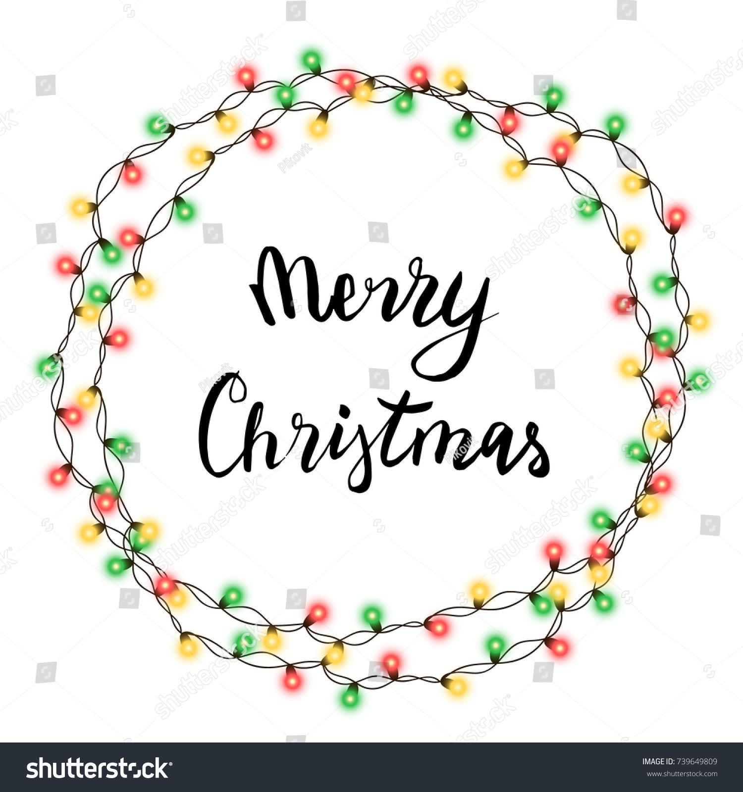 Christmas tree string garland circle shape stock vector