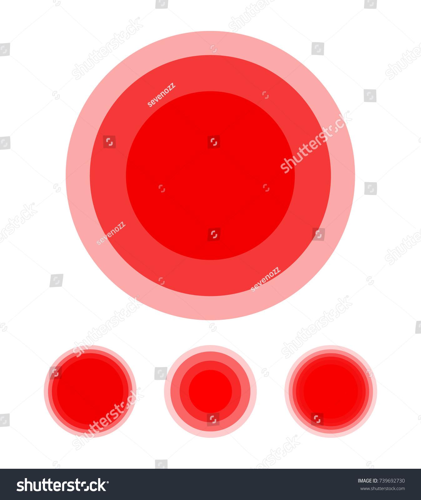 Pain Symbol Circle Set Red Medical Ring Icons Illustration Ez Canvas