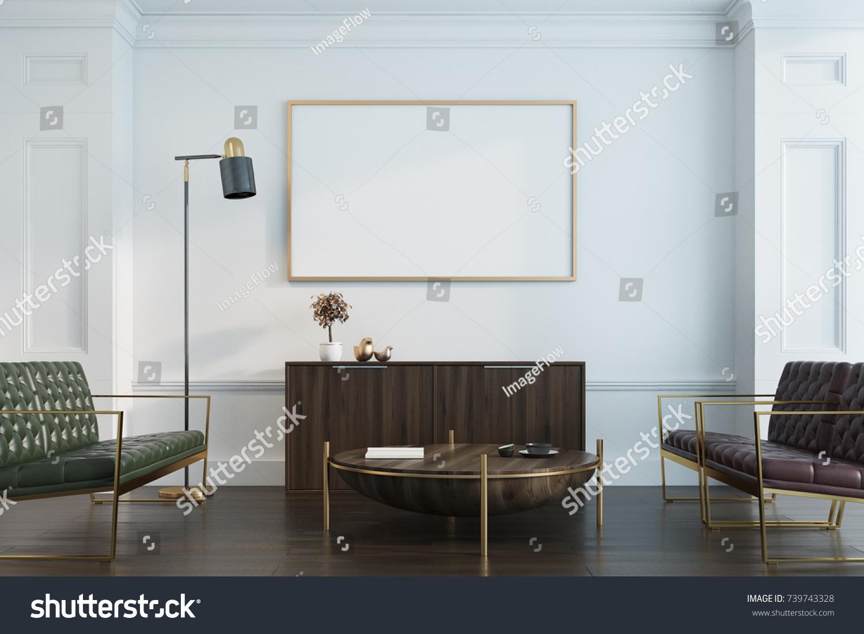 White Living Room Interior Wooden Floor Stock Illustration 739743328 ...