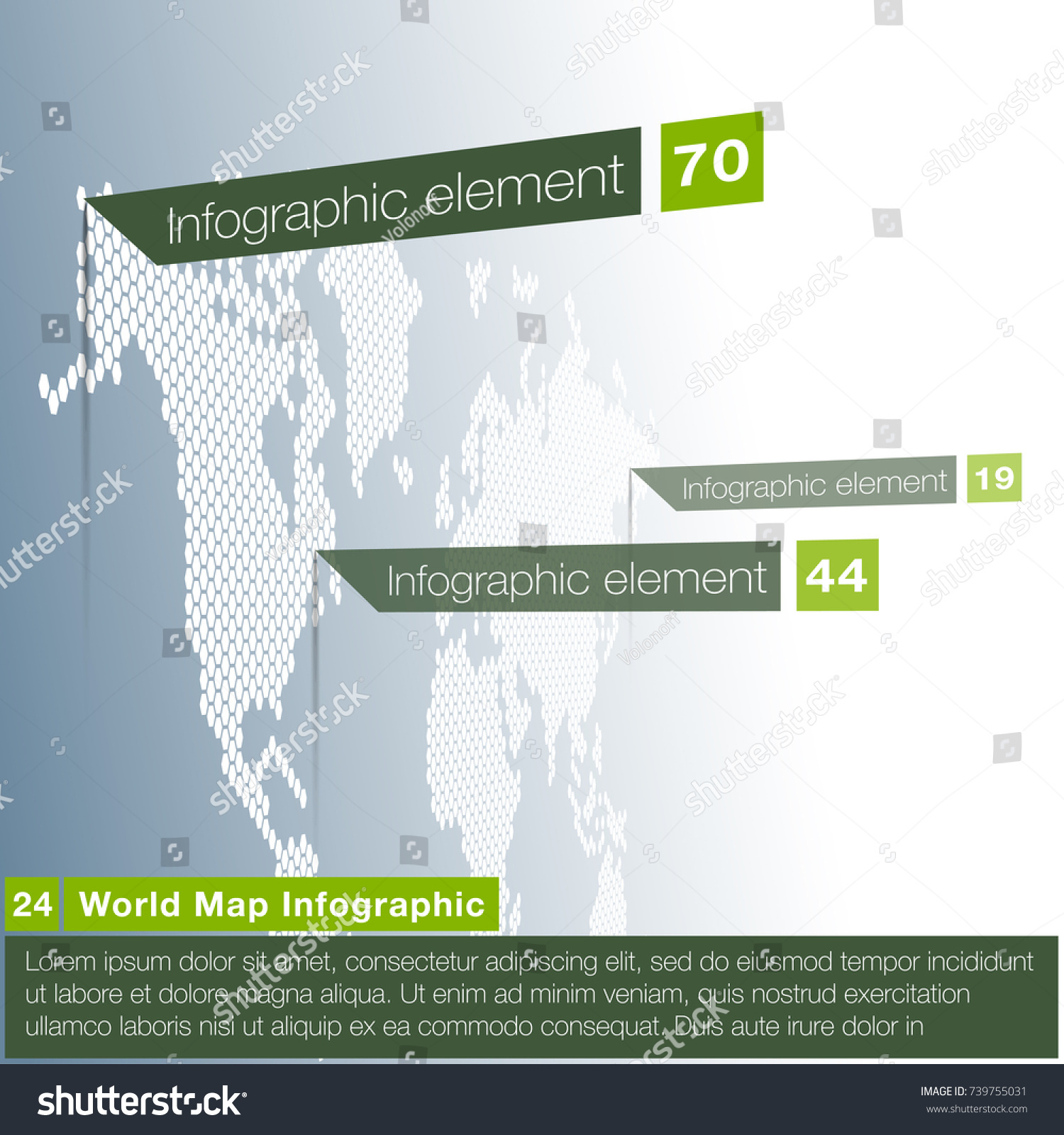 Light world map infographic template flat vectores en stock light world map infographic template with odern flat paper pointer marks vertical on the gumiabroncs Image collections