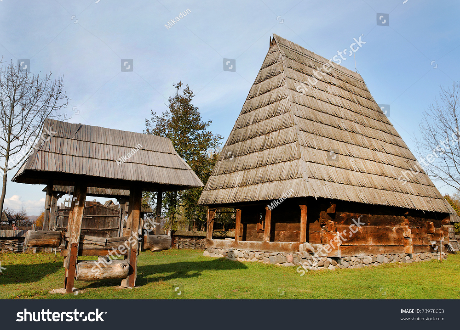 Traditional Wooden House In Maramures Romania Stock Photo 73978603 Shutterstock