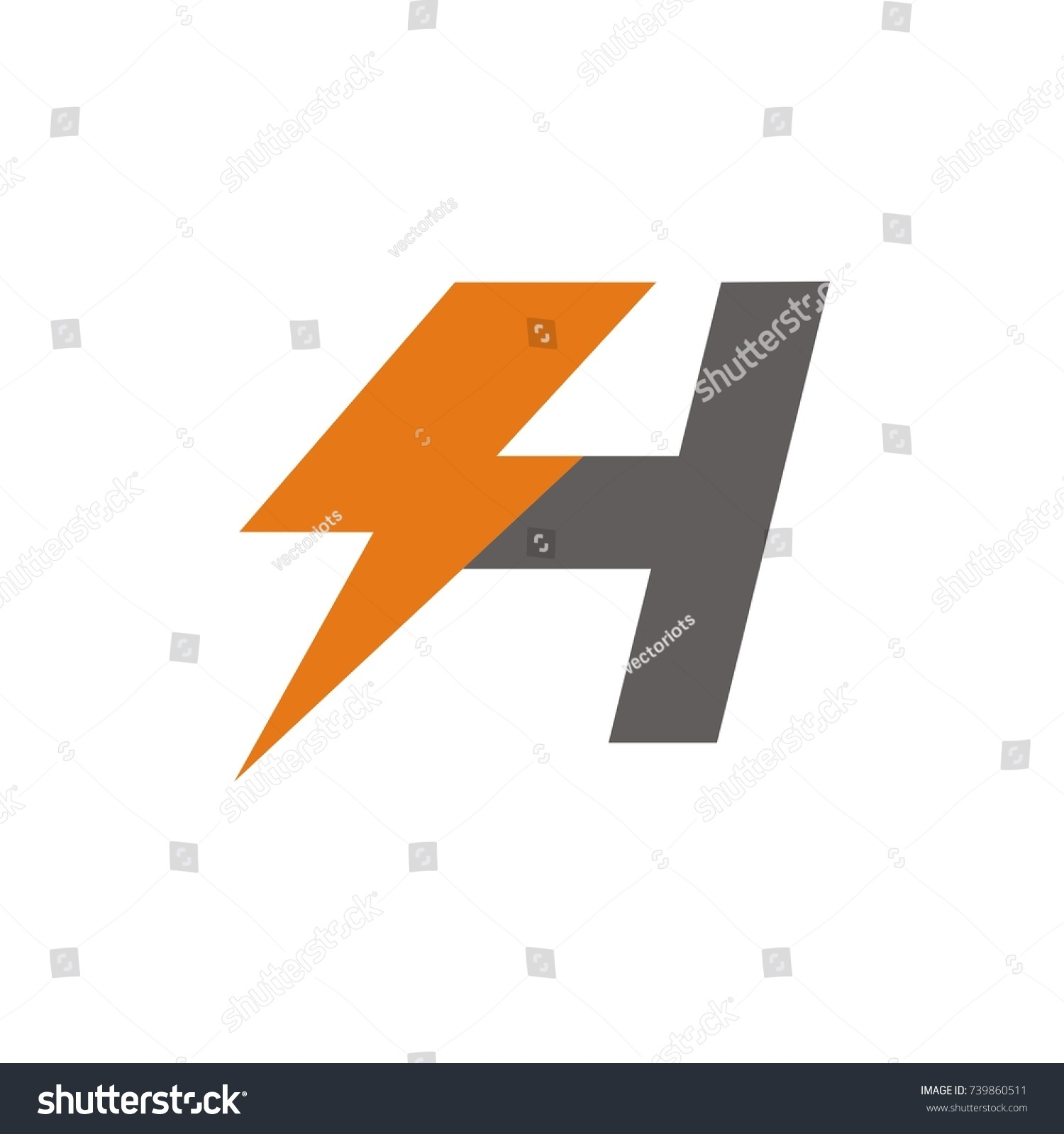 Amazing lightning bolt template pictures inspiration entry level zeus lightning bolt clipart 37 h logo initial letter design template stock vector 739860511 buycottarizona Image collections