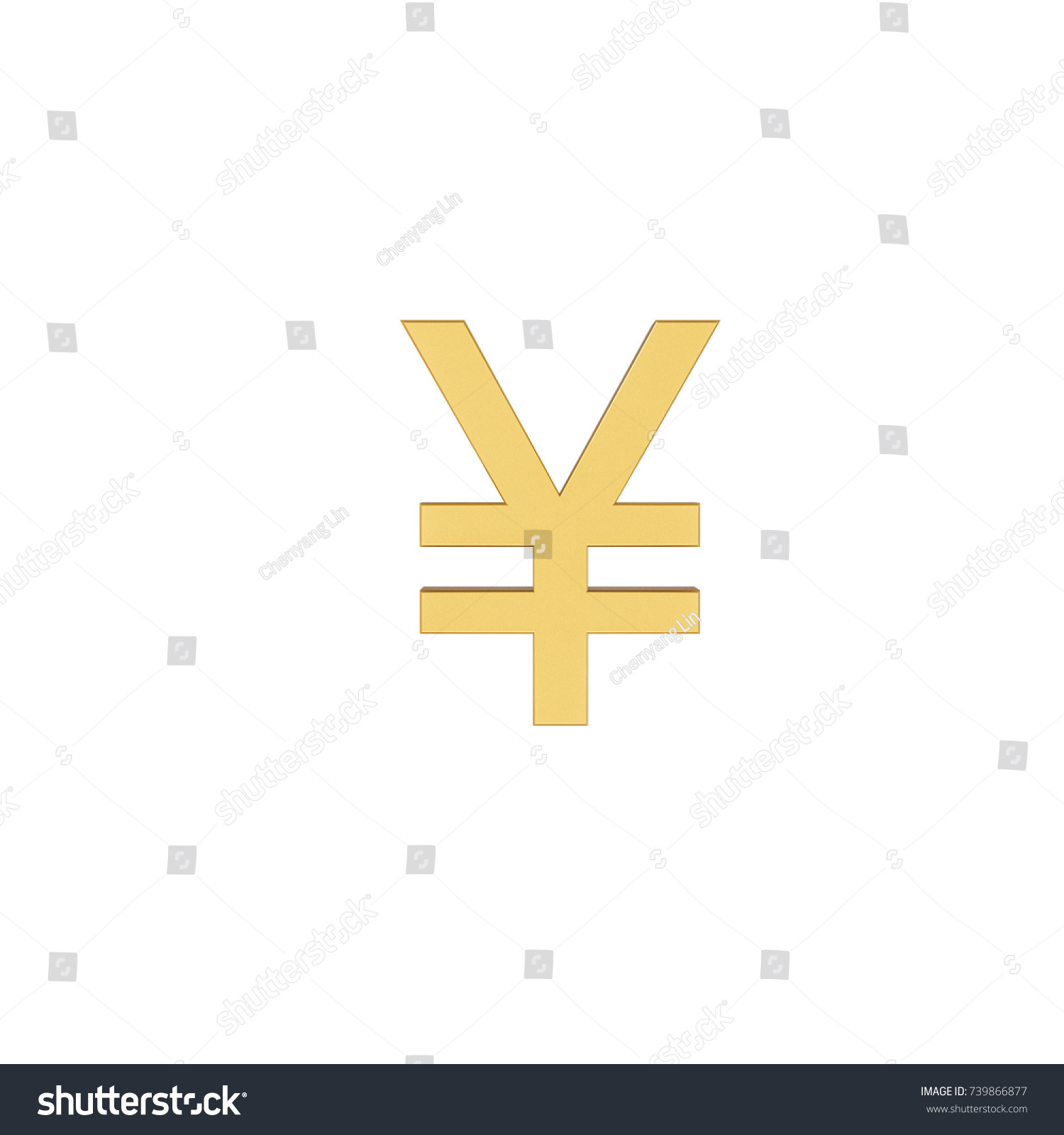Yellow Square Shape With Currency Symbol Of China Ez Canvas