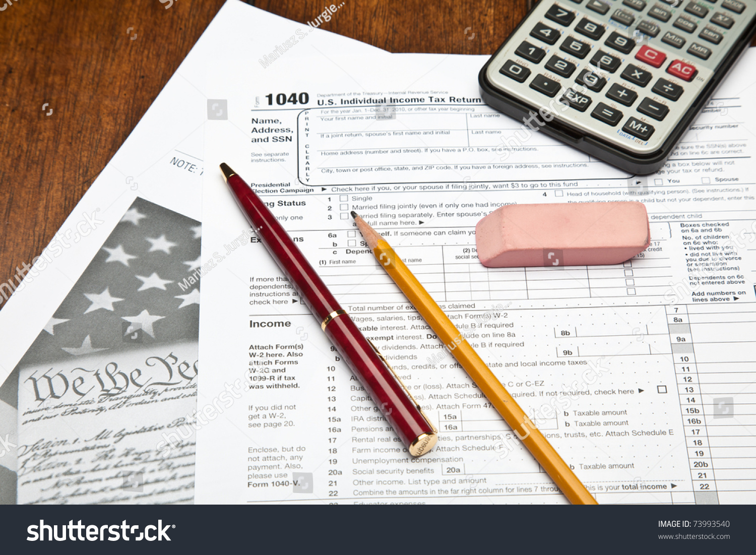 Form 1040 us individual income tax stock photo 73993540 shutterstock the form 1040 us individual income tax return is the starting form for personal falaconquin