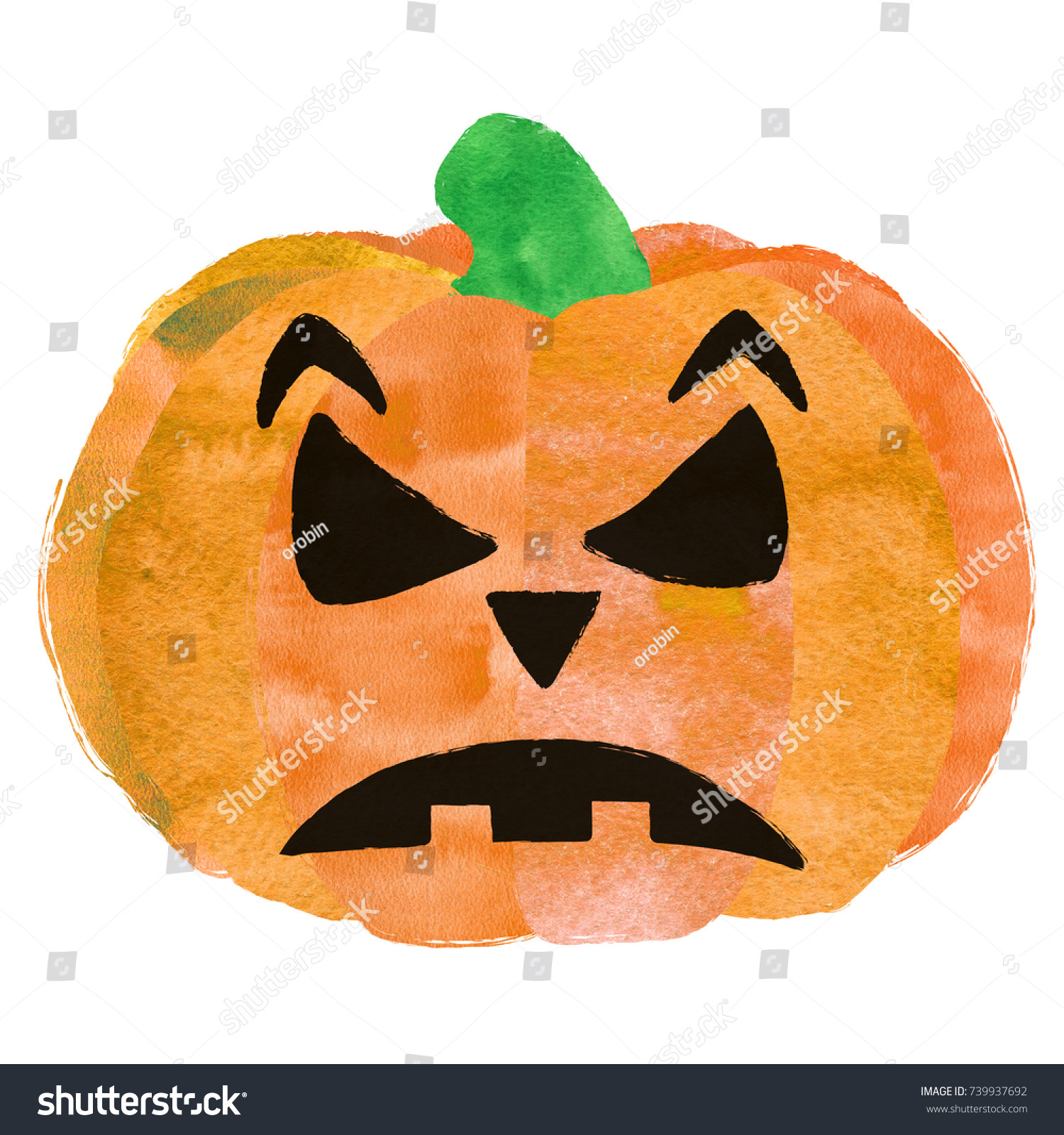 Halloween Pumpkin Cute Scary Pumpkin Face Readytouse Stock ...