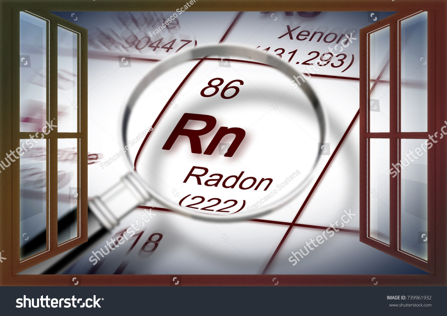 Danger radon gas our homes concept stock illustration 739961932 the danger of radon gas in our homes concept image with periodic table of the buycottarizona