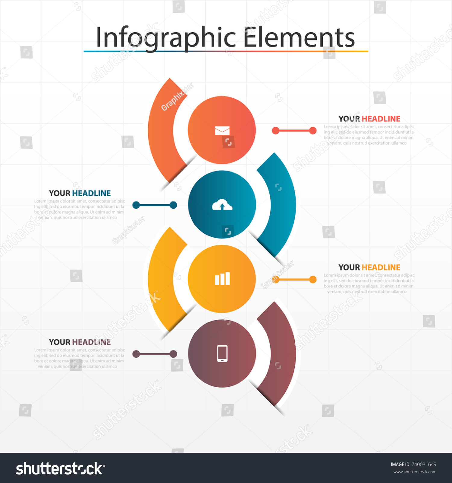 Business Timeline Templates Sample Personal Timeline How To Write Stock  Vector Business Horizontal Timeline Process Chart